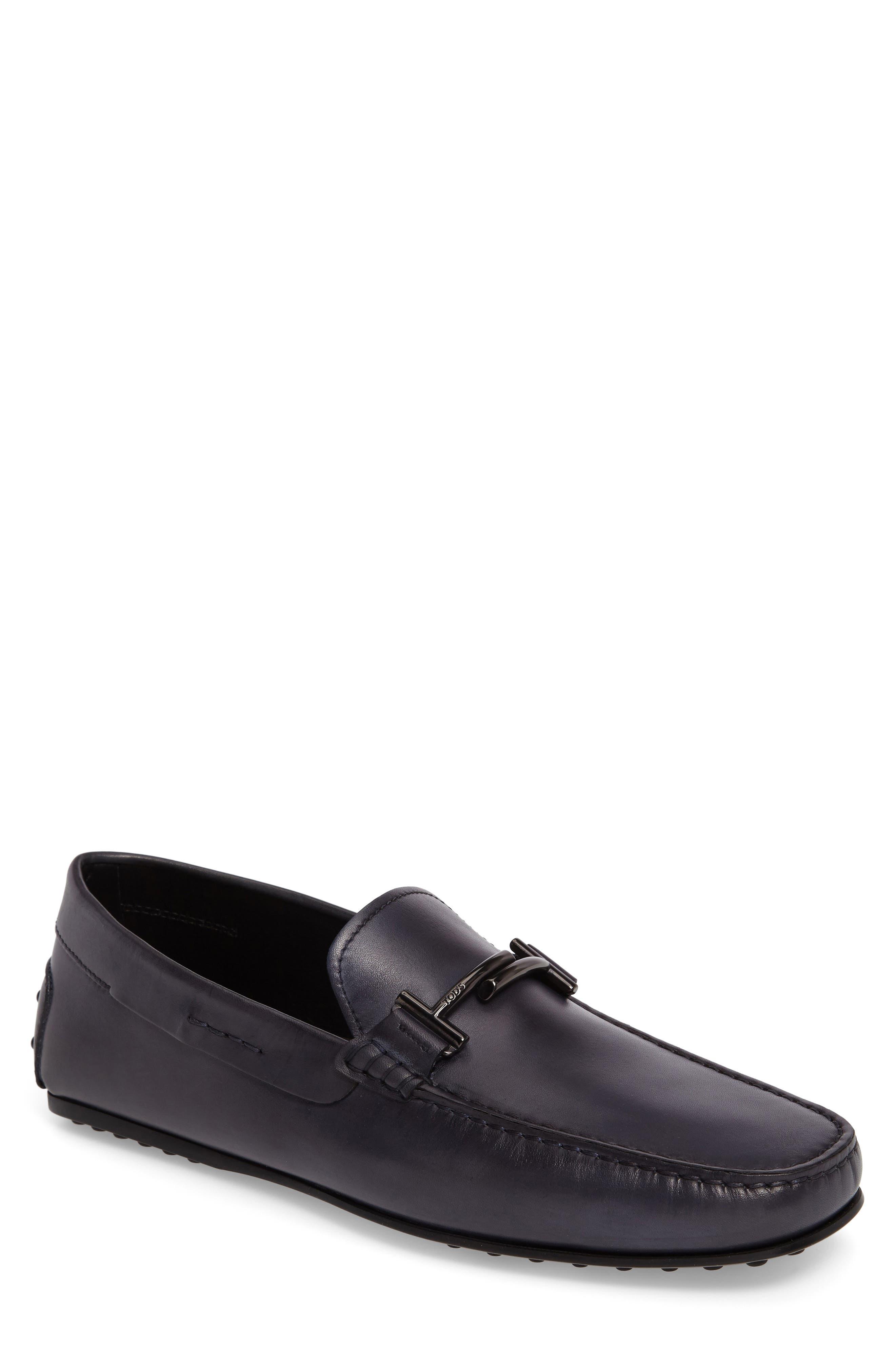 Gommini Driving Shoe,                         Main,                         color, Dark Grey Leather
