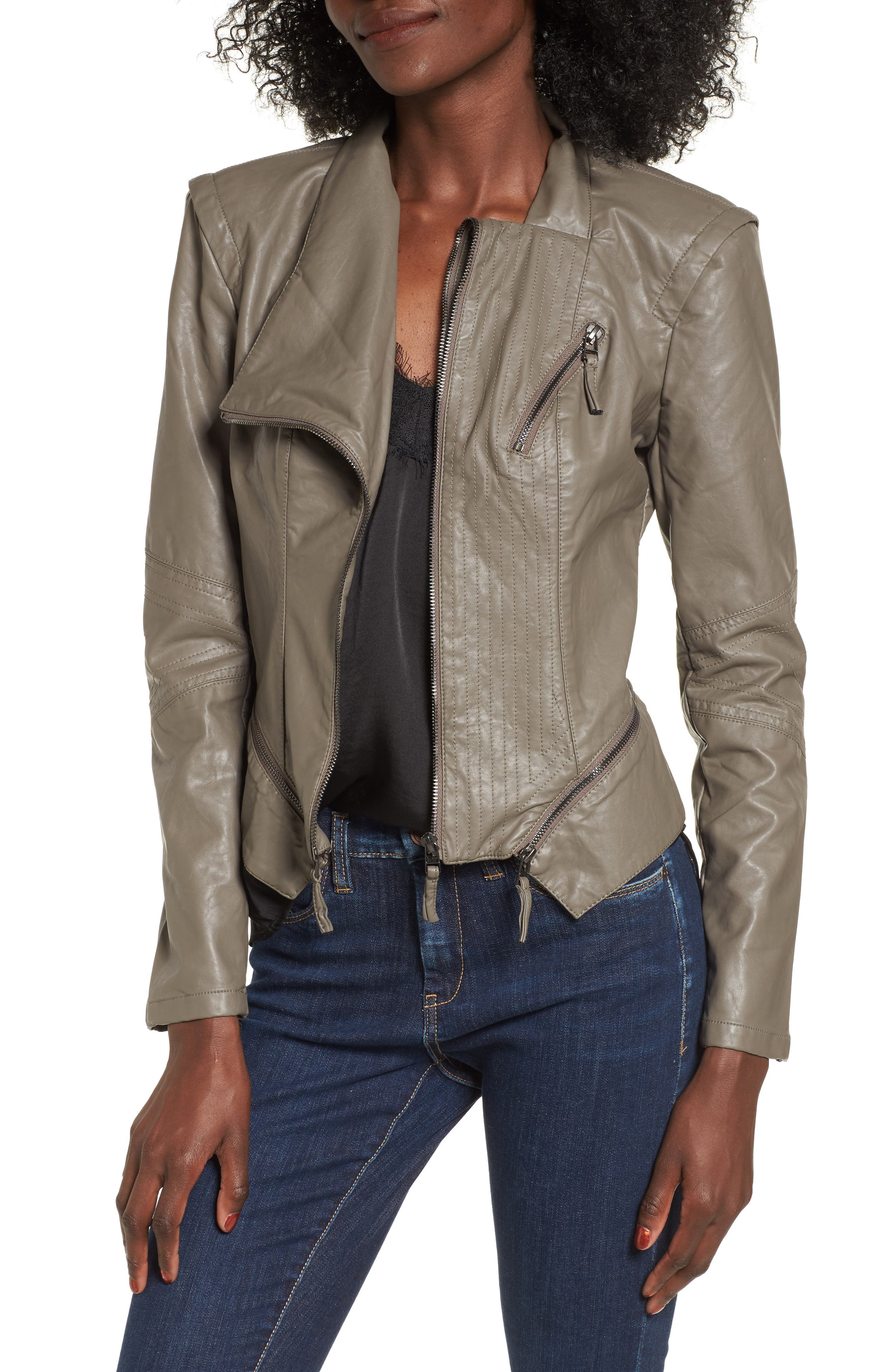 Croped leather jacket