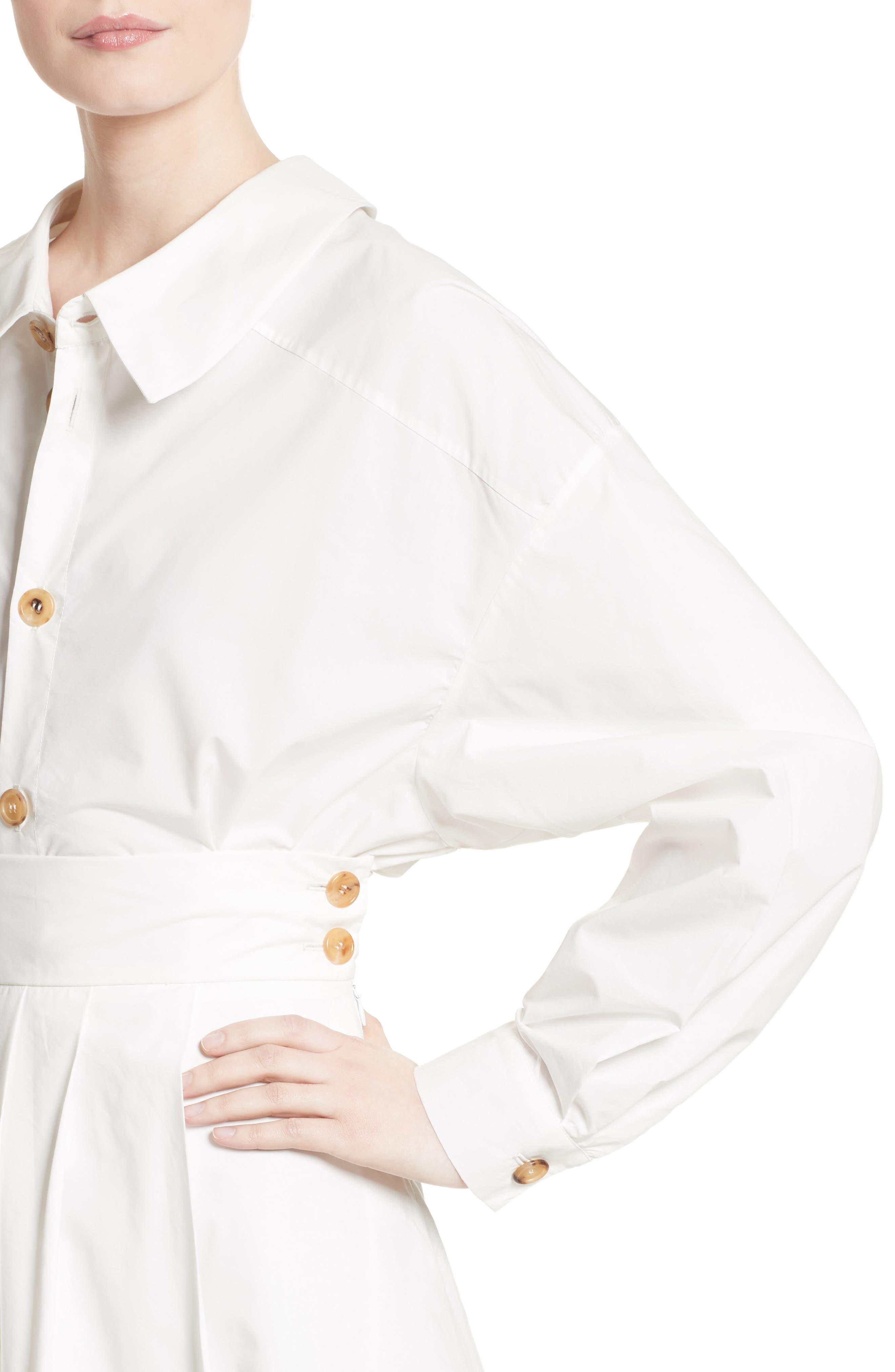 Oversized Convertible Wrap Blouse,                             Alternate thumbnail 6, color,                             White