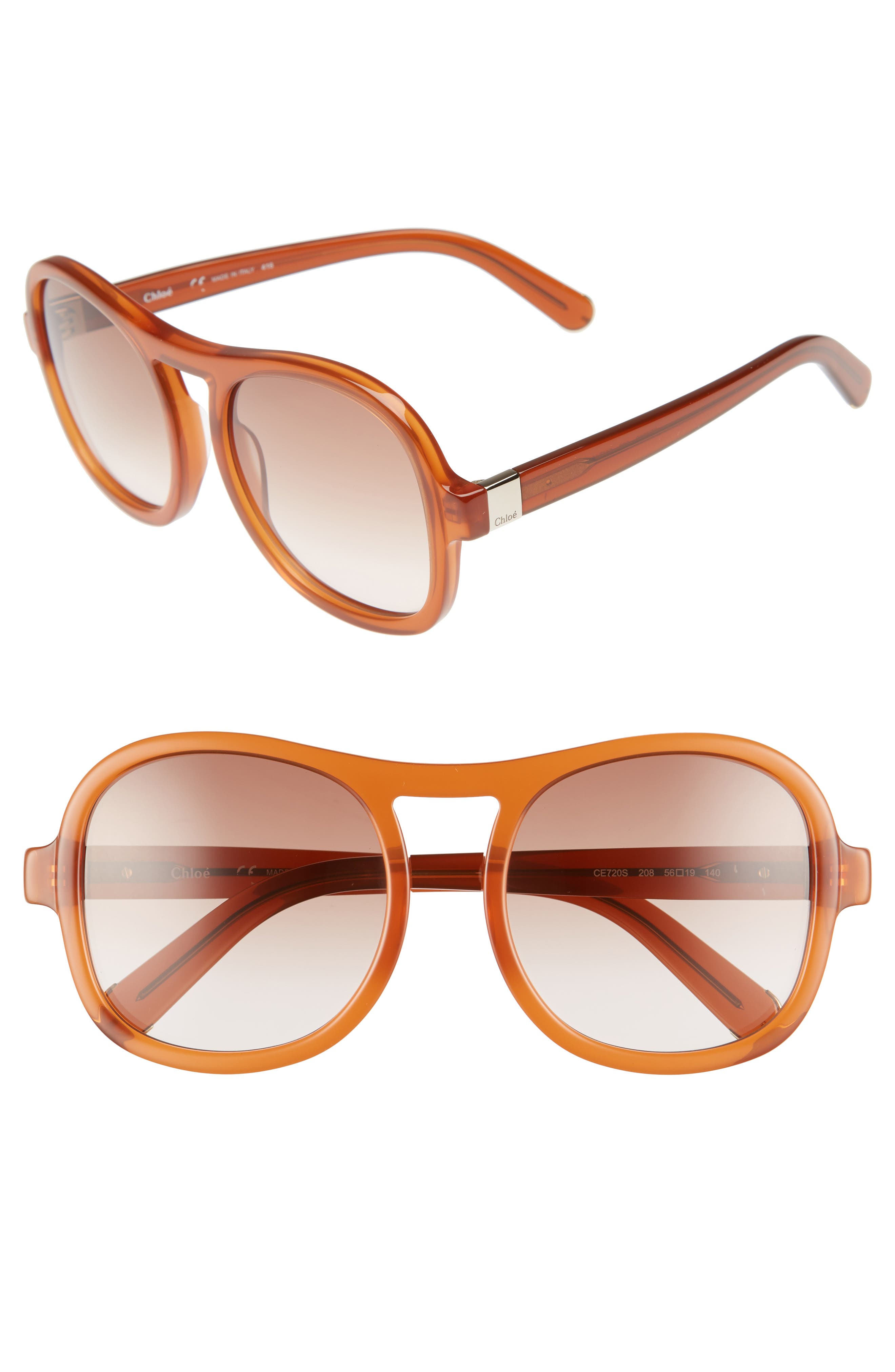 CHLOÉ Marlow 56mm Gradient Lens Sunglasses