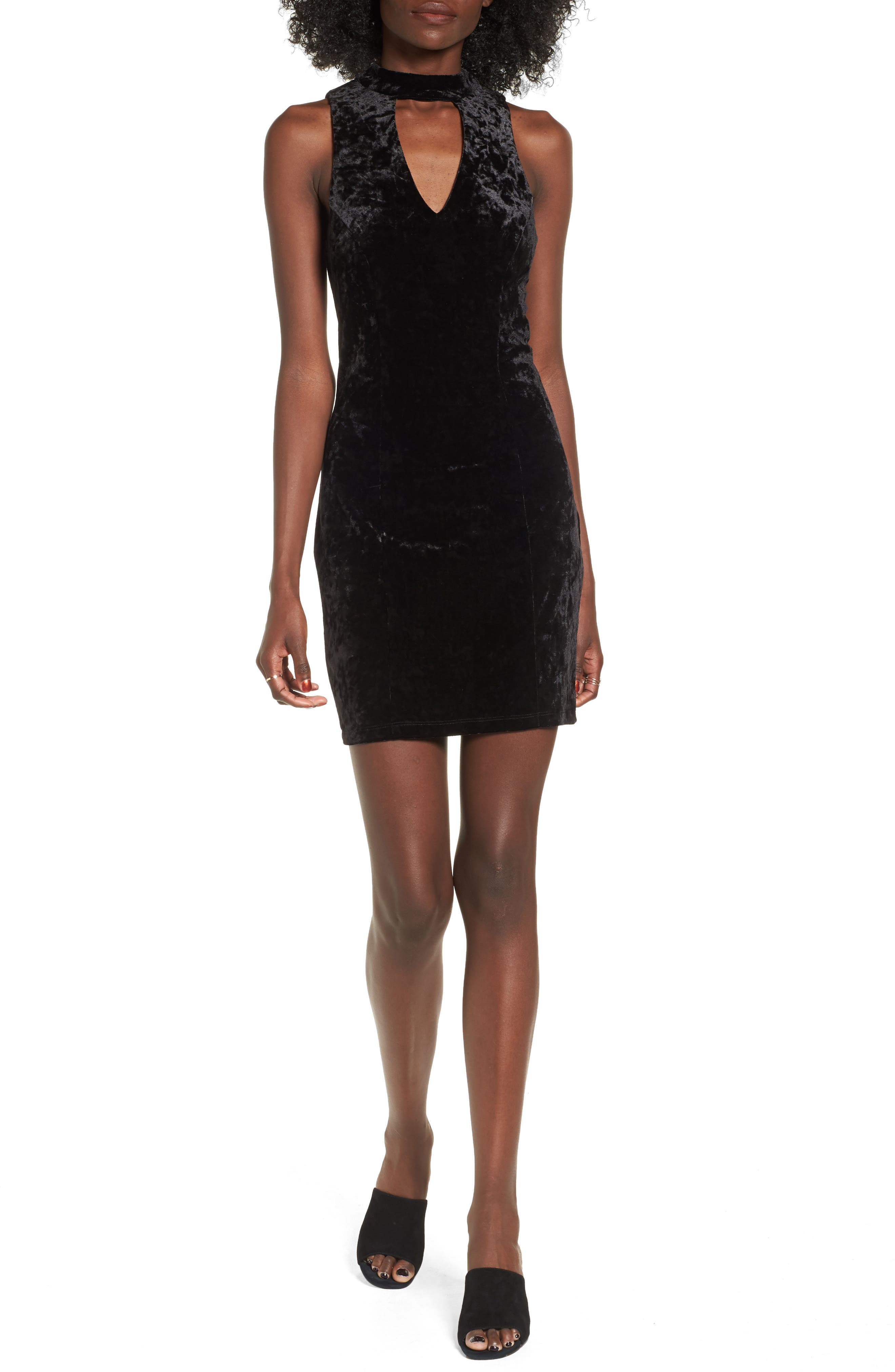 Speechless Gigi Velvet Body-Con Dress
