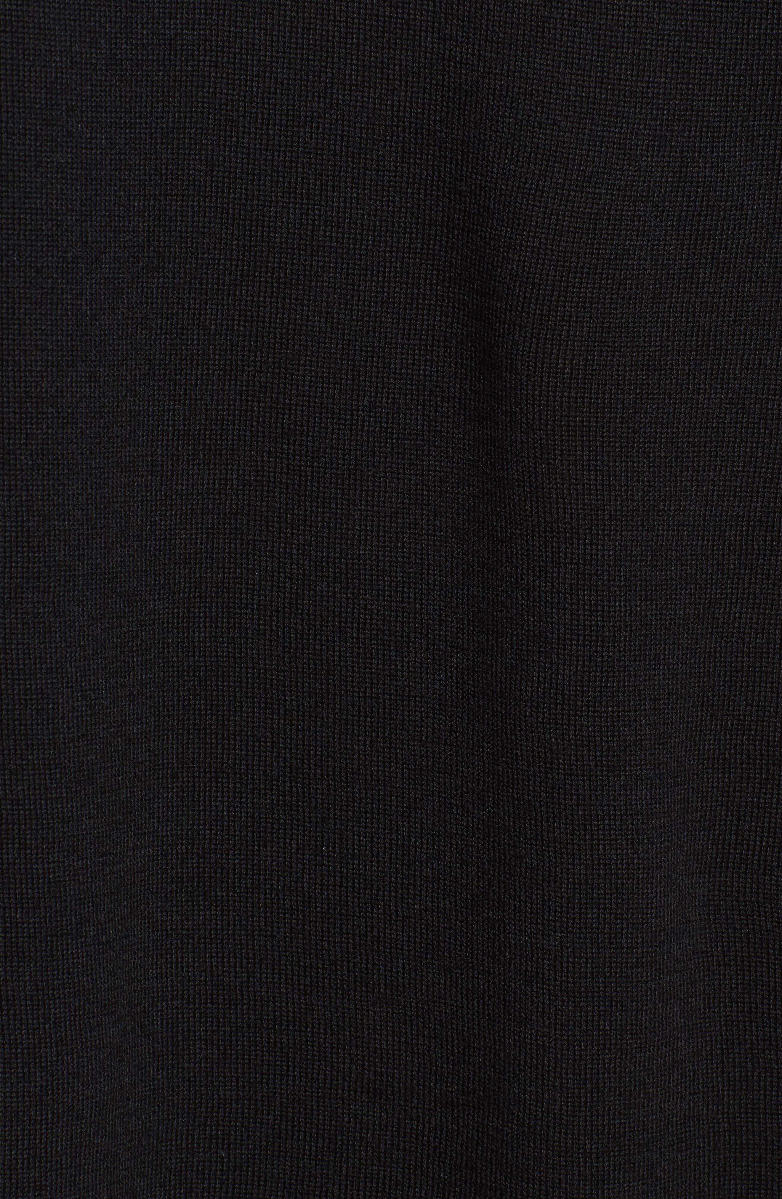 Merino Wool Reversible Hoodie,                             Alternate thumbnail 6, color,                             Black
