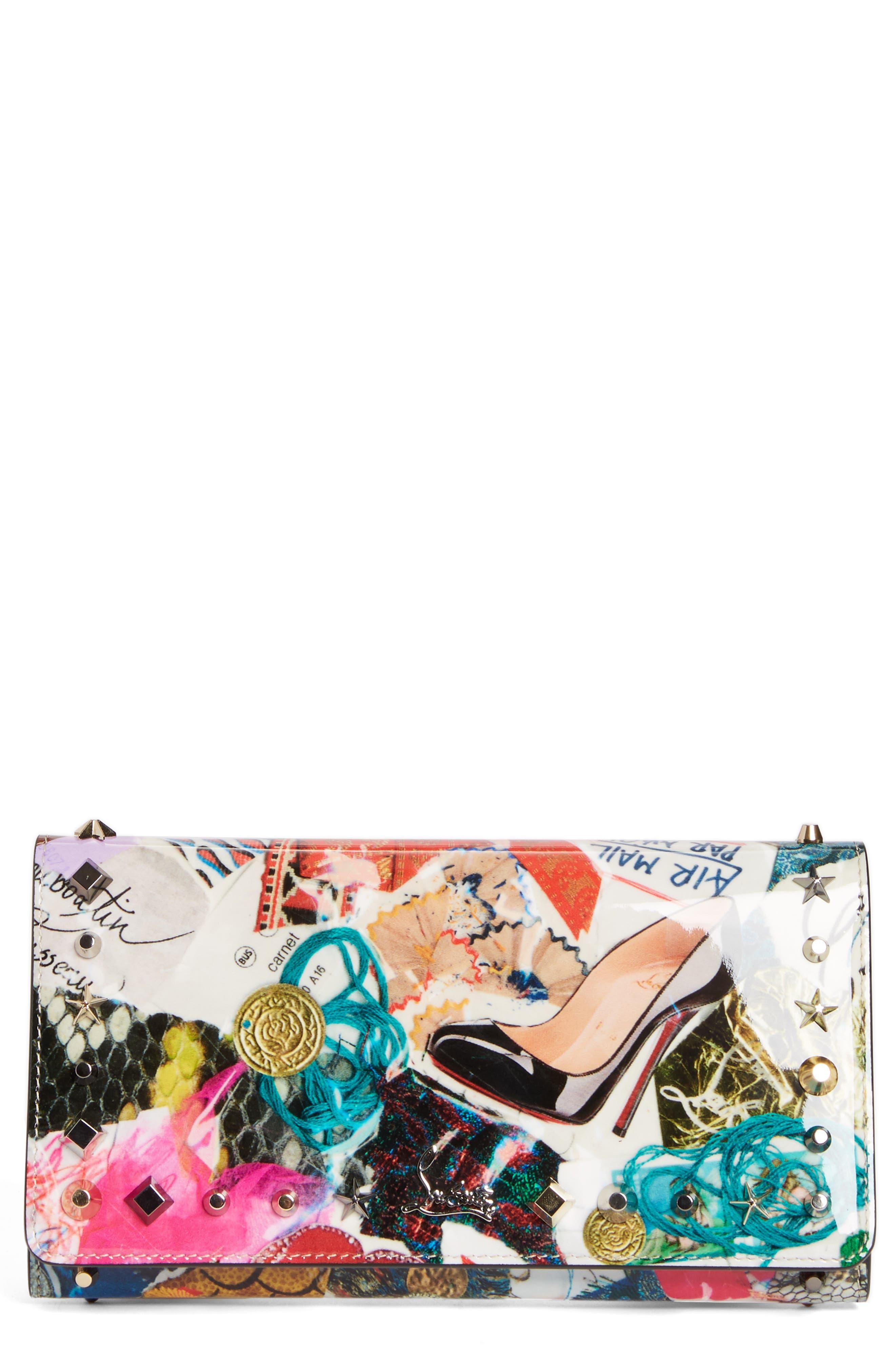 Christian Louboutin Macaron Trash Print Leather Wallet
