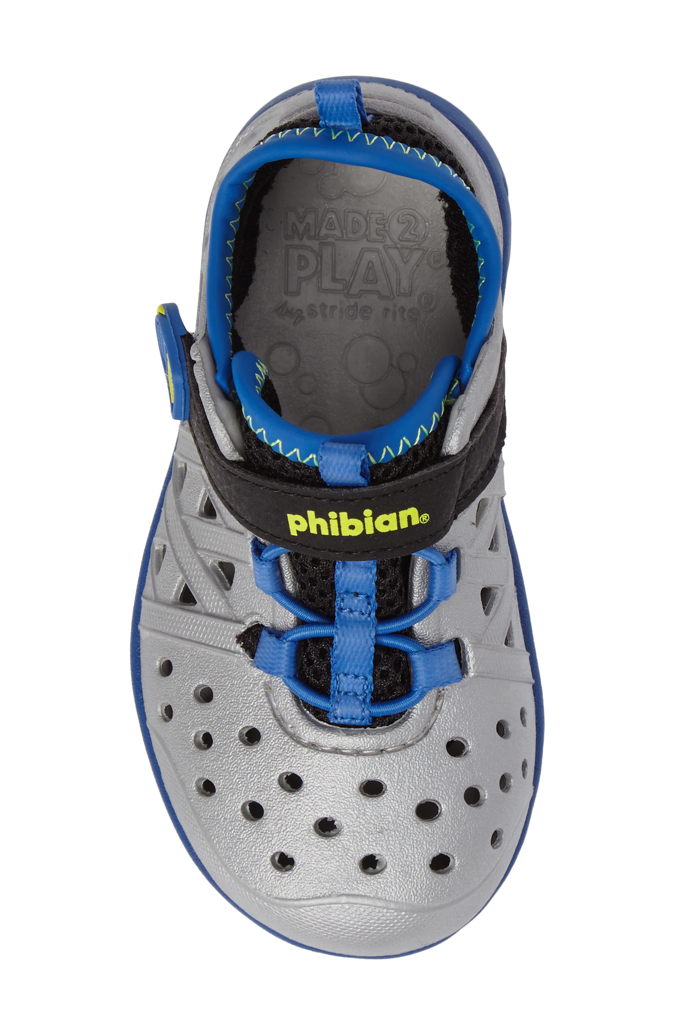 Made2Play<sup>®</sup> Phibian Sneaker,                             Alternate thumbnail 5, color,                             Silver Metallic