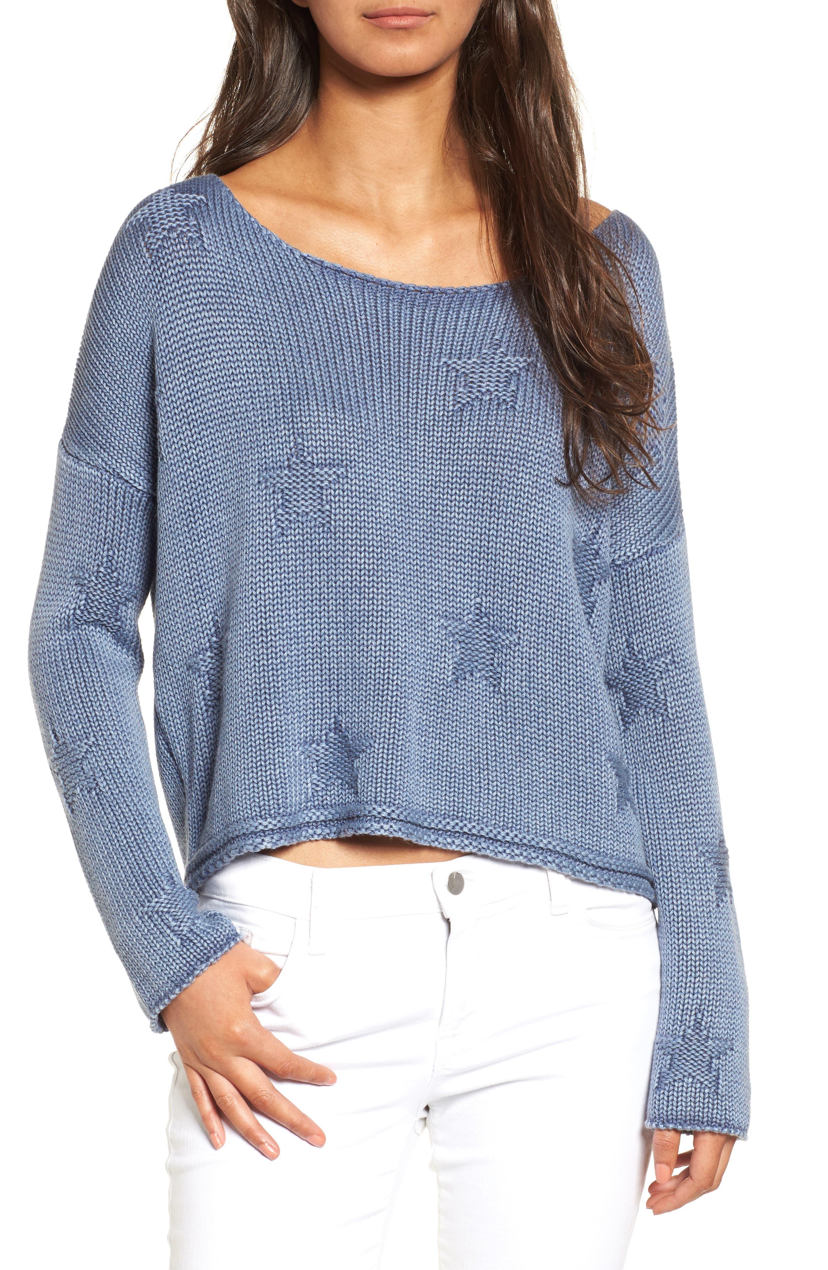 Kalani Knit Pullover,                         Main,                         color, Navy Stars
