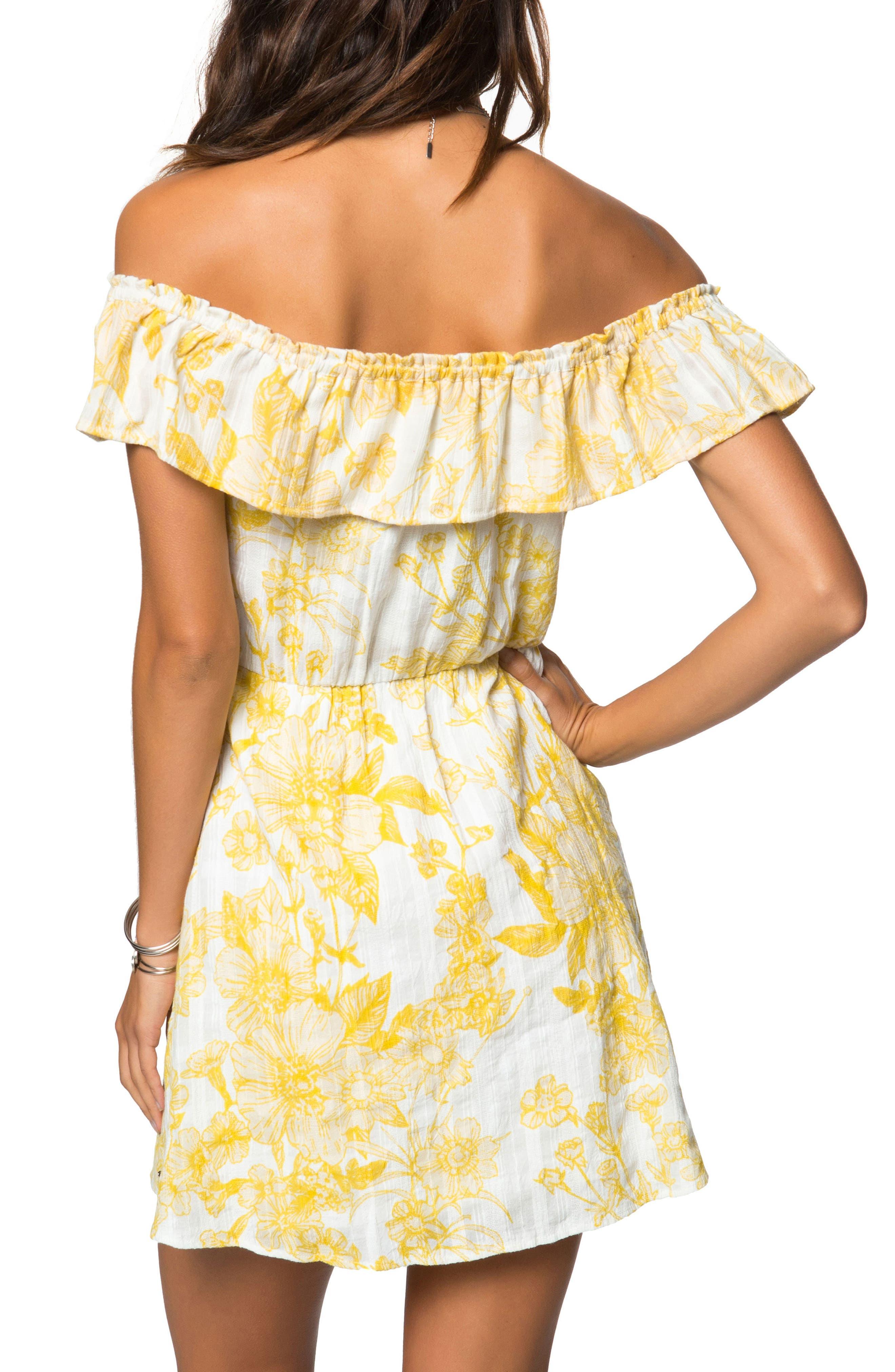 Dorothy Floral Off the Shoulder Dress,                             Alternate thumbnail 2, color,                             Naked