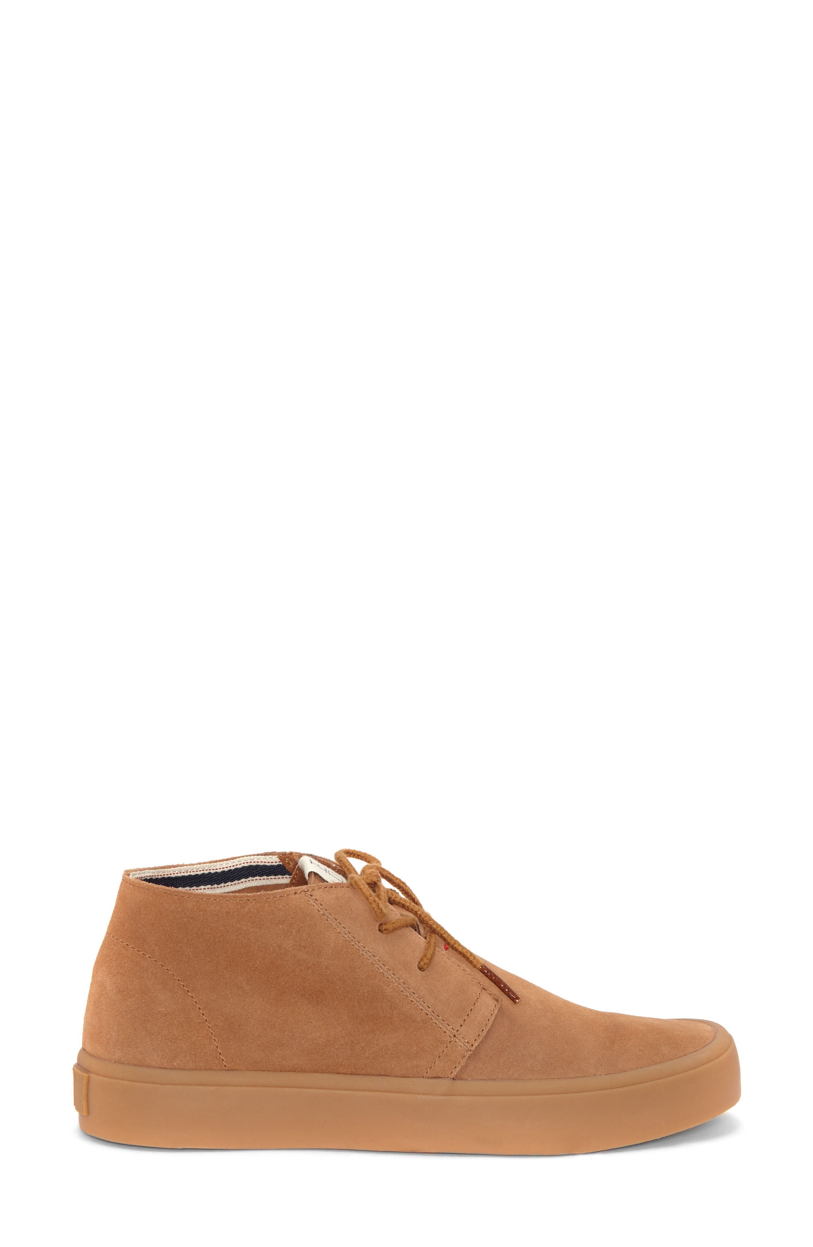 Dax Chukka Sneaker,                             Alternate thumbnail 3, color,                             Honey Suede