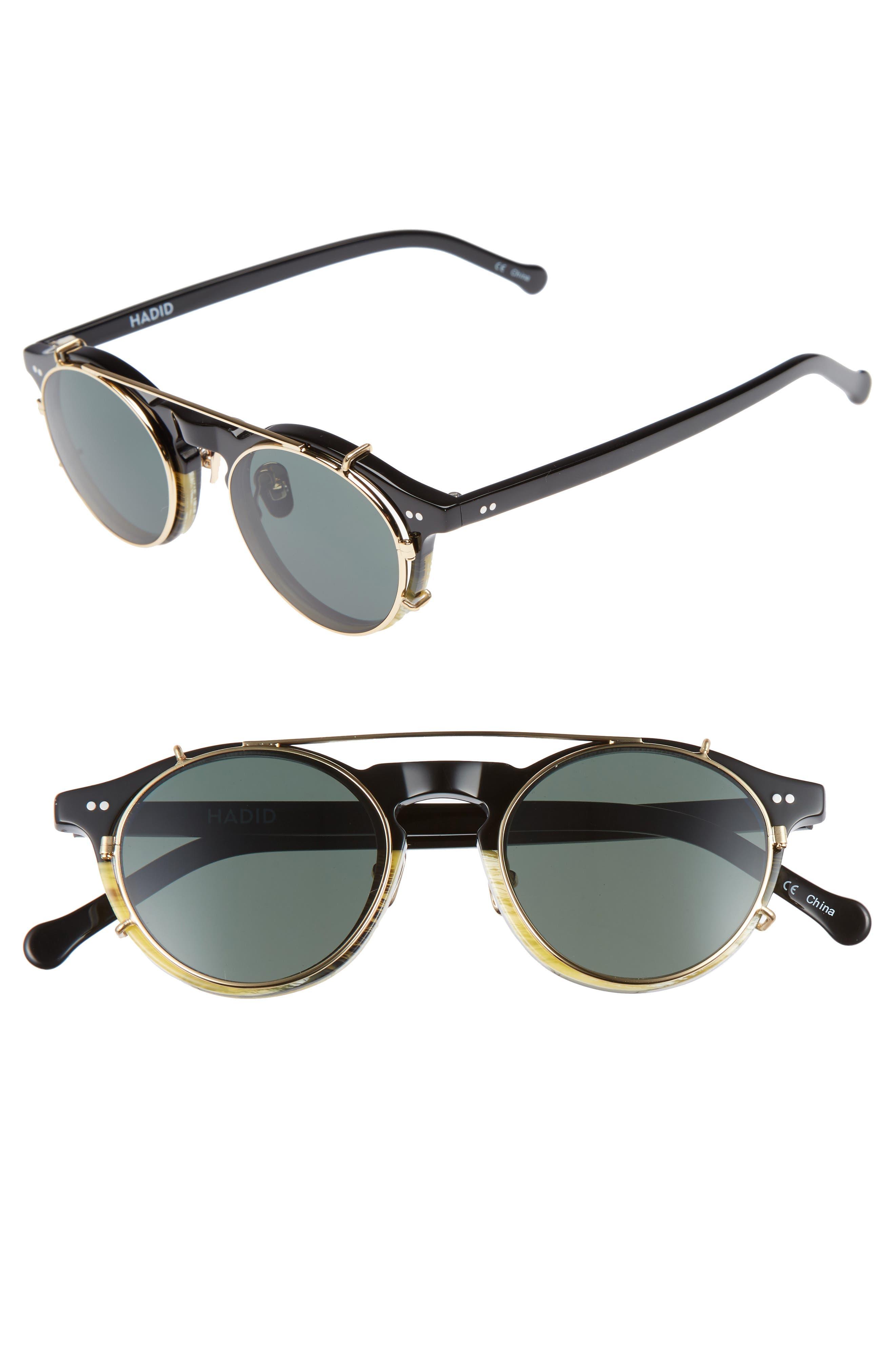 HADID Captain 46mm Clip-On Sunglasses