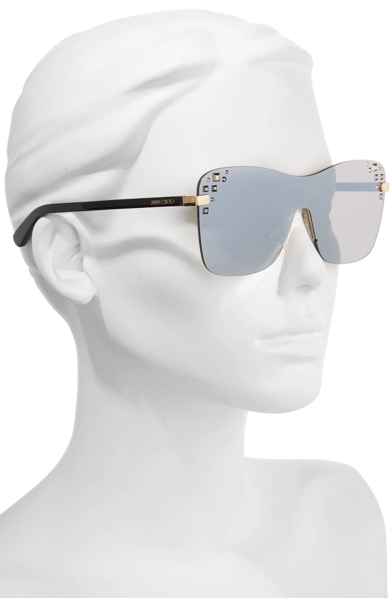 Alternate Image 2  - Jimmy Choo Masks 63mm Rimless Shield Sunglasses
