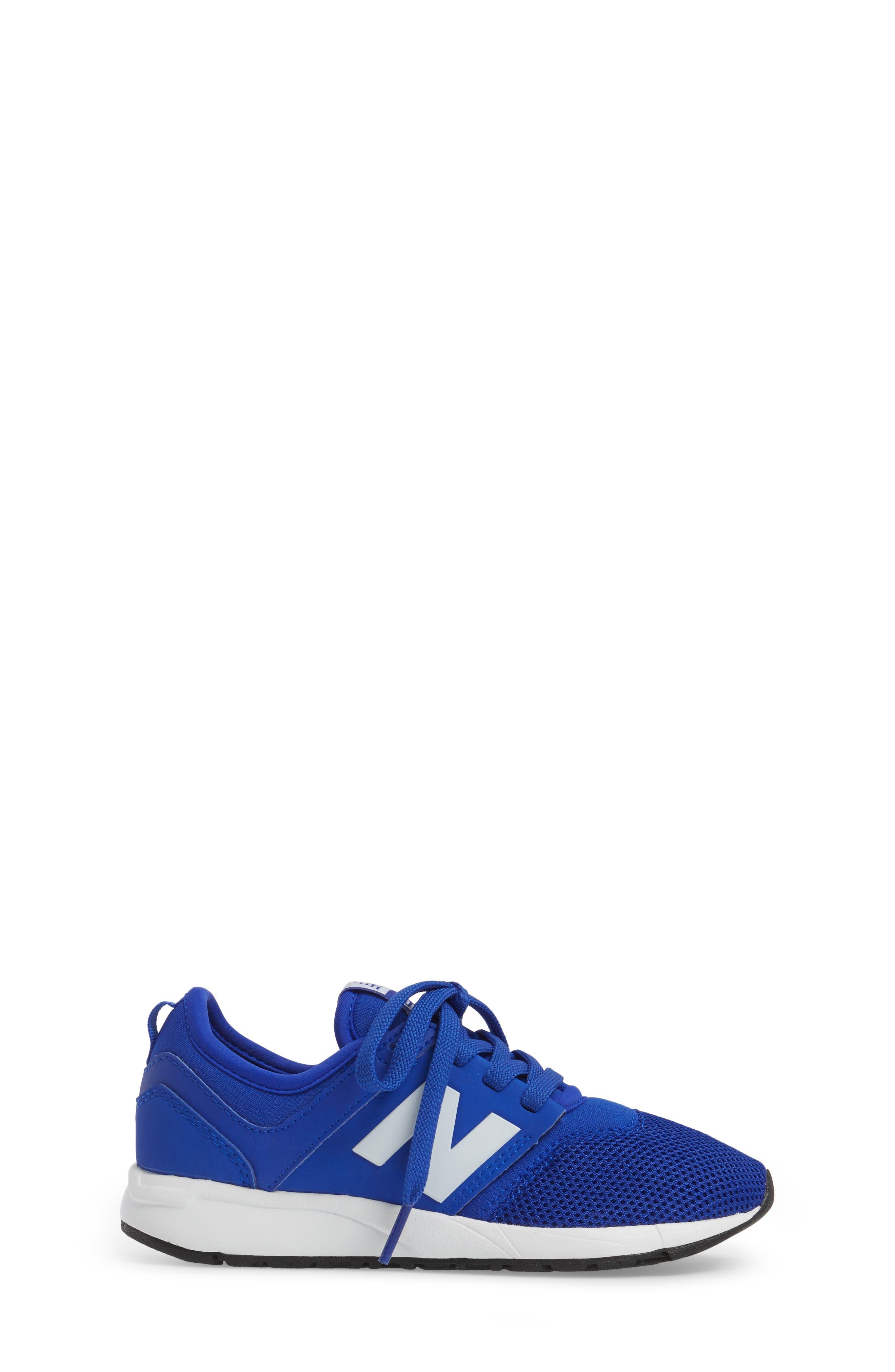 247 Core Sneaker,                             Alternate thumbnail 3, color,                             Blue/ White