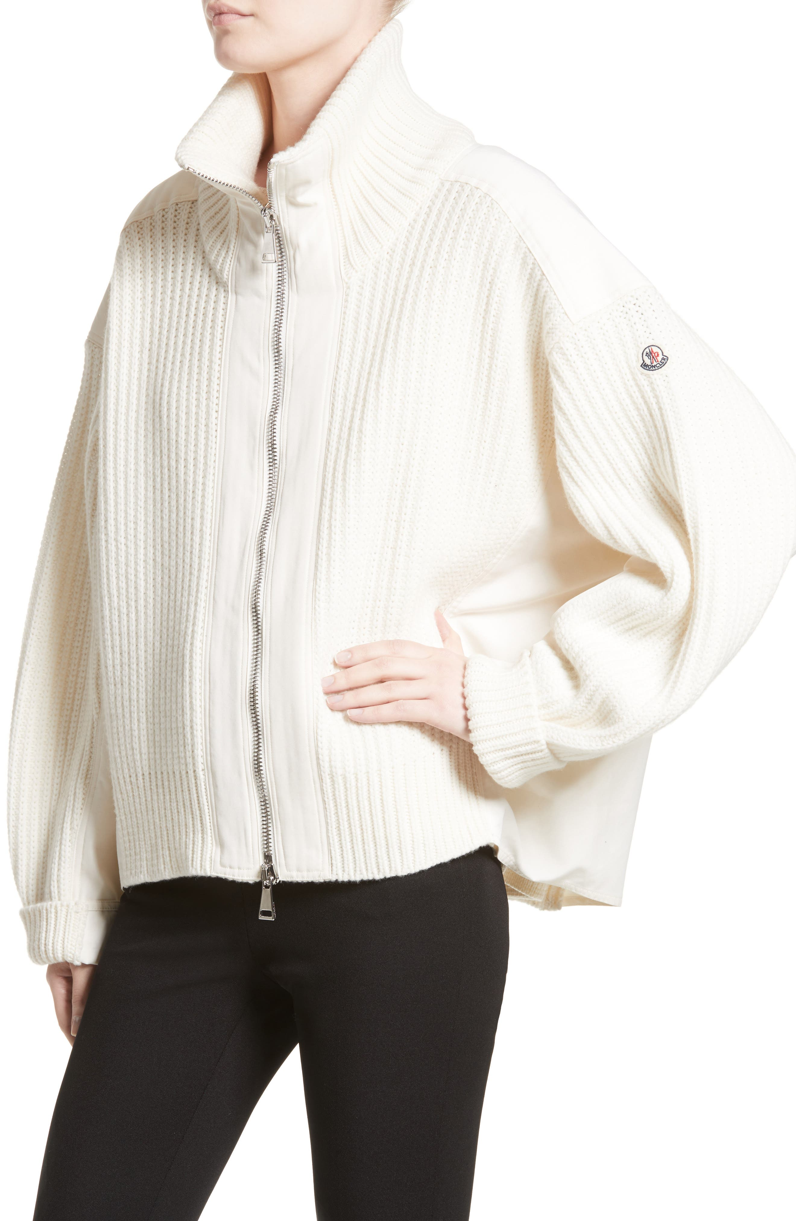 Wool & Cashmere Cardigan,                             Alternate thumbnail 4, color,                             White
