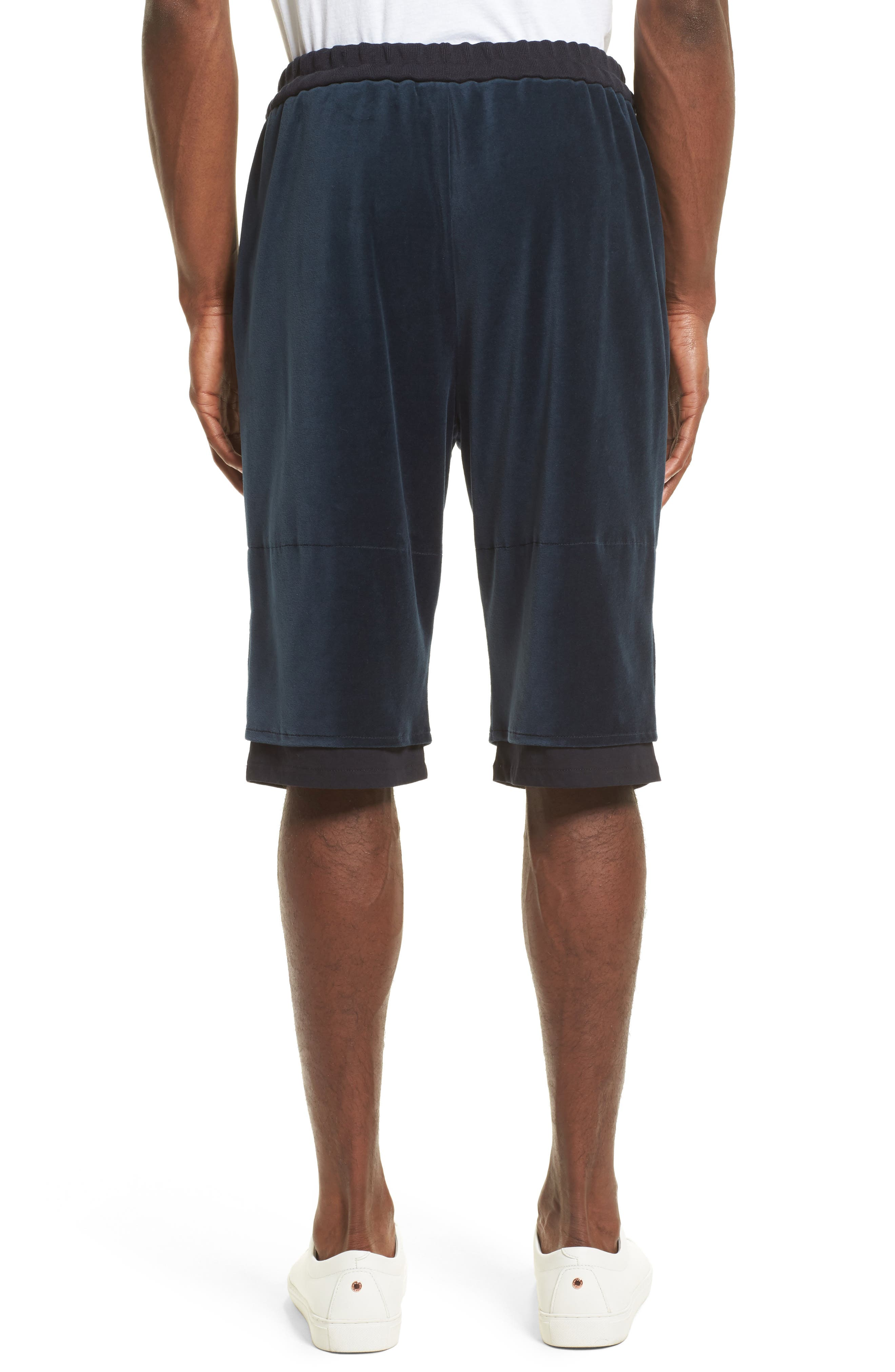 Double Layer Shorts,                             Alternate thumbnail 2, color,                             Navy