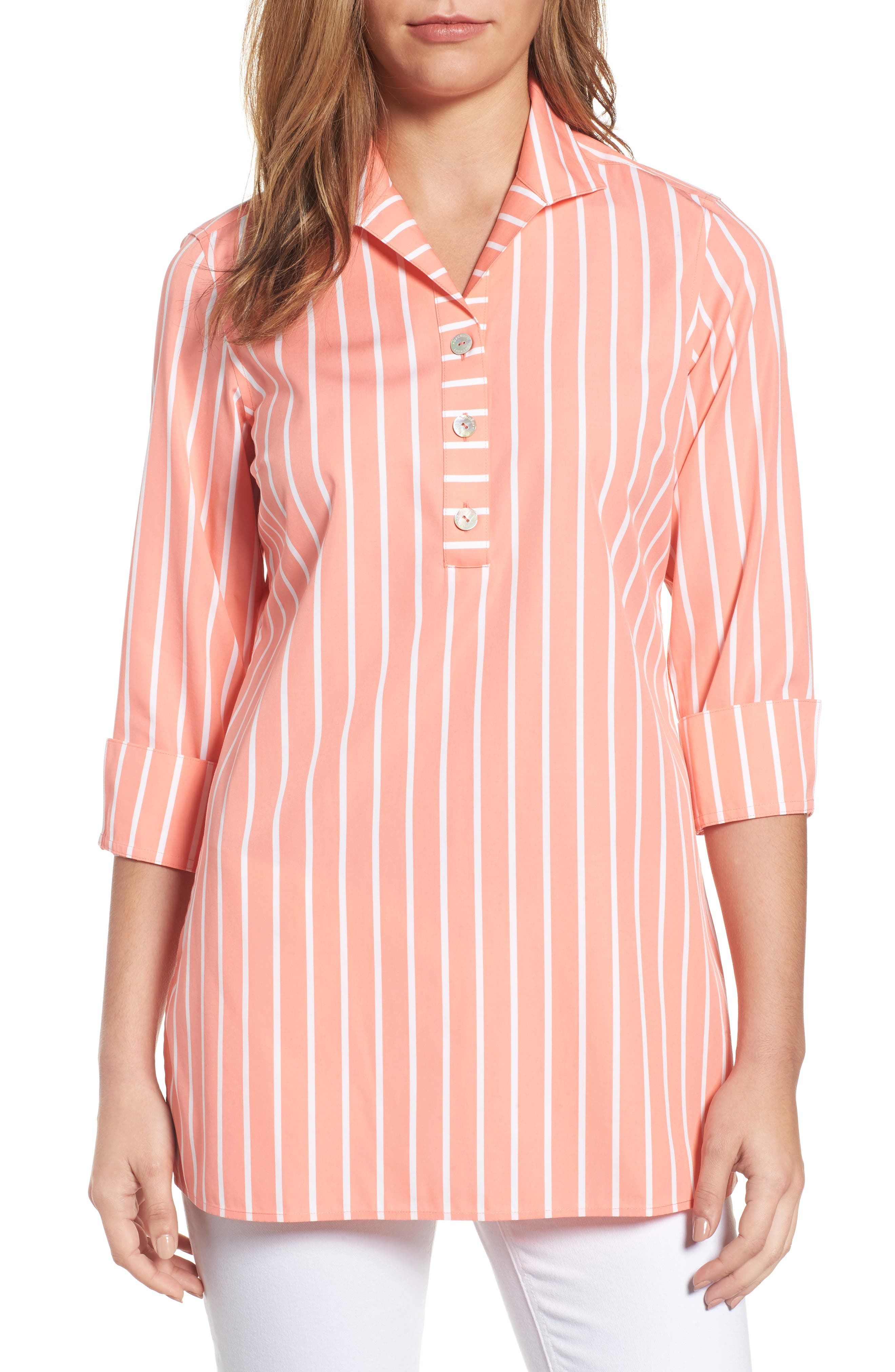 Main Image - Foxcroft Dani Button Back Tunic Shirt