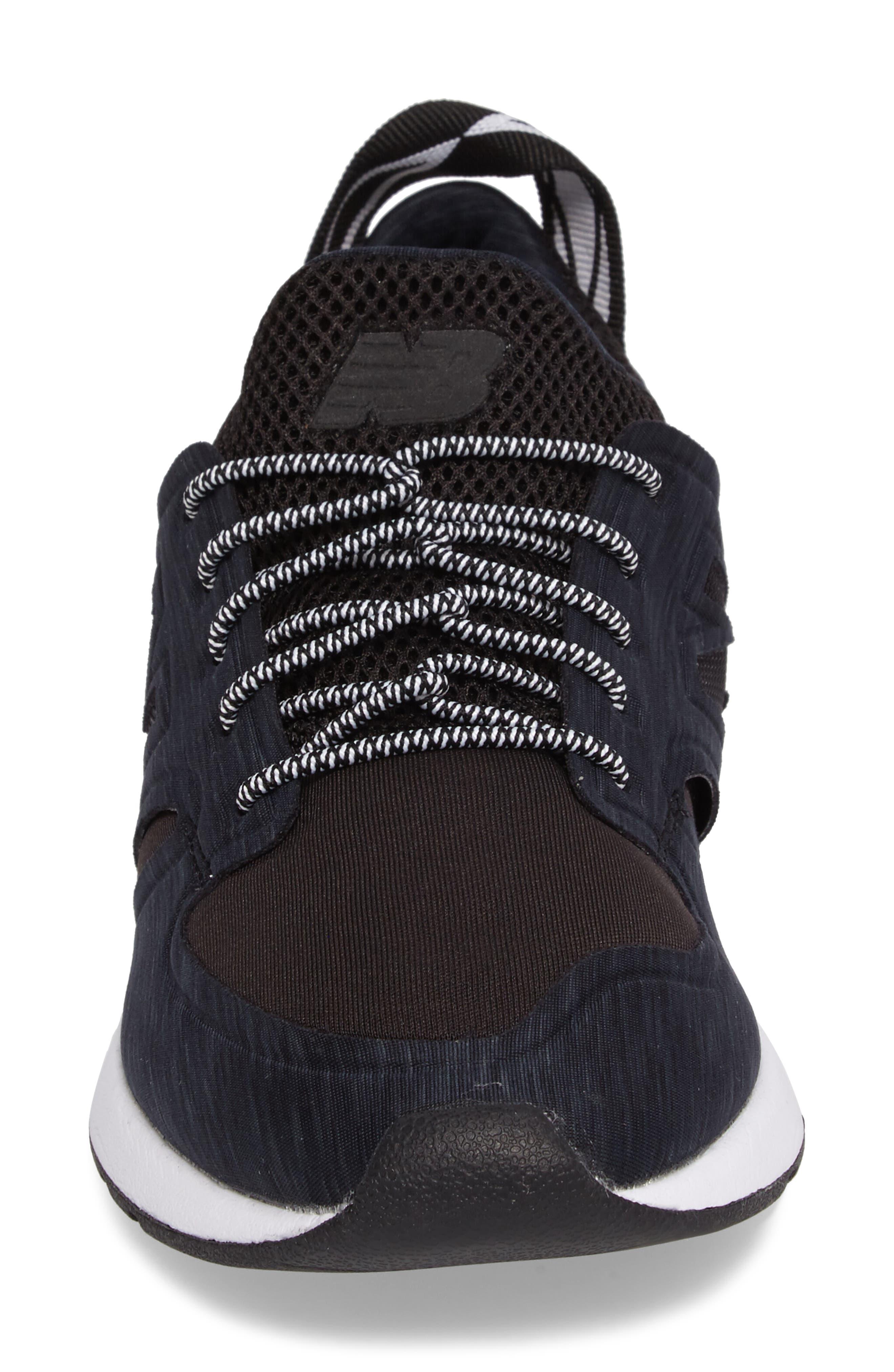 Sporty Style 420 Sneaker,                             Alternate thumbnail 4, color,                             Black