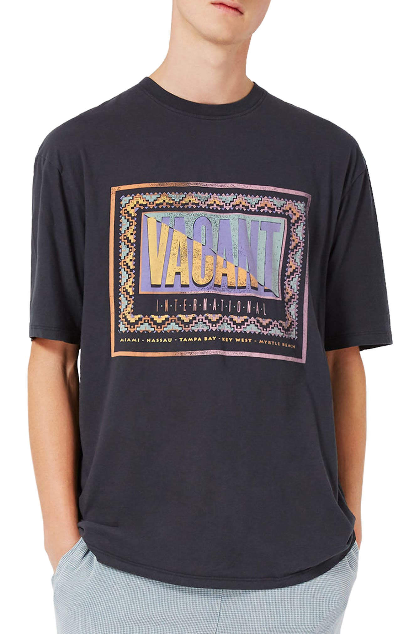 Topman Vacant Graphic T-Shirt