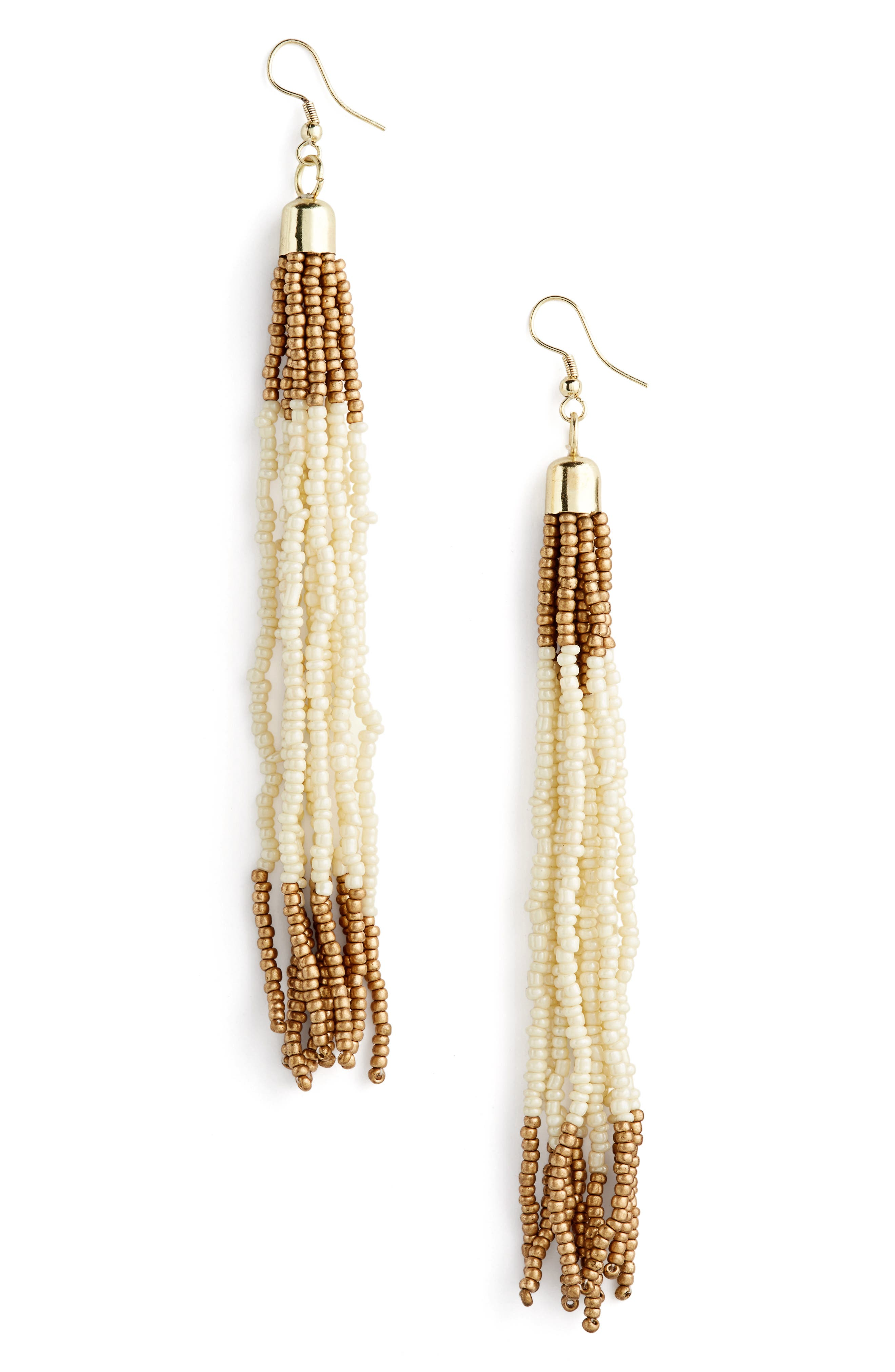 Tasha Beaded Tassel Earrings
