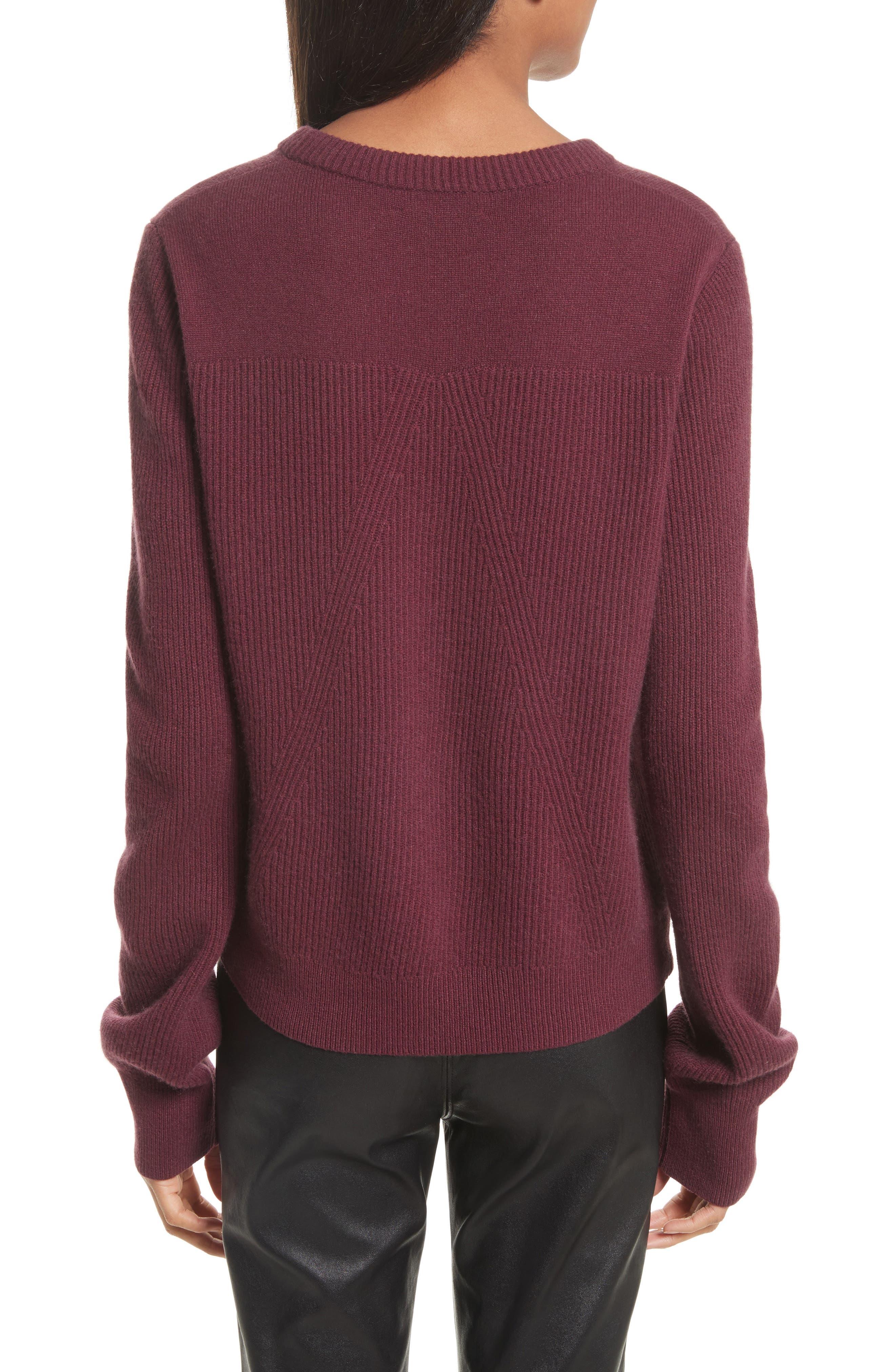 Alternate Image 2  - rag & bone Ace Cashmere Crop Sweater