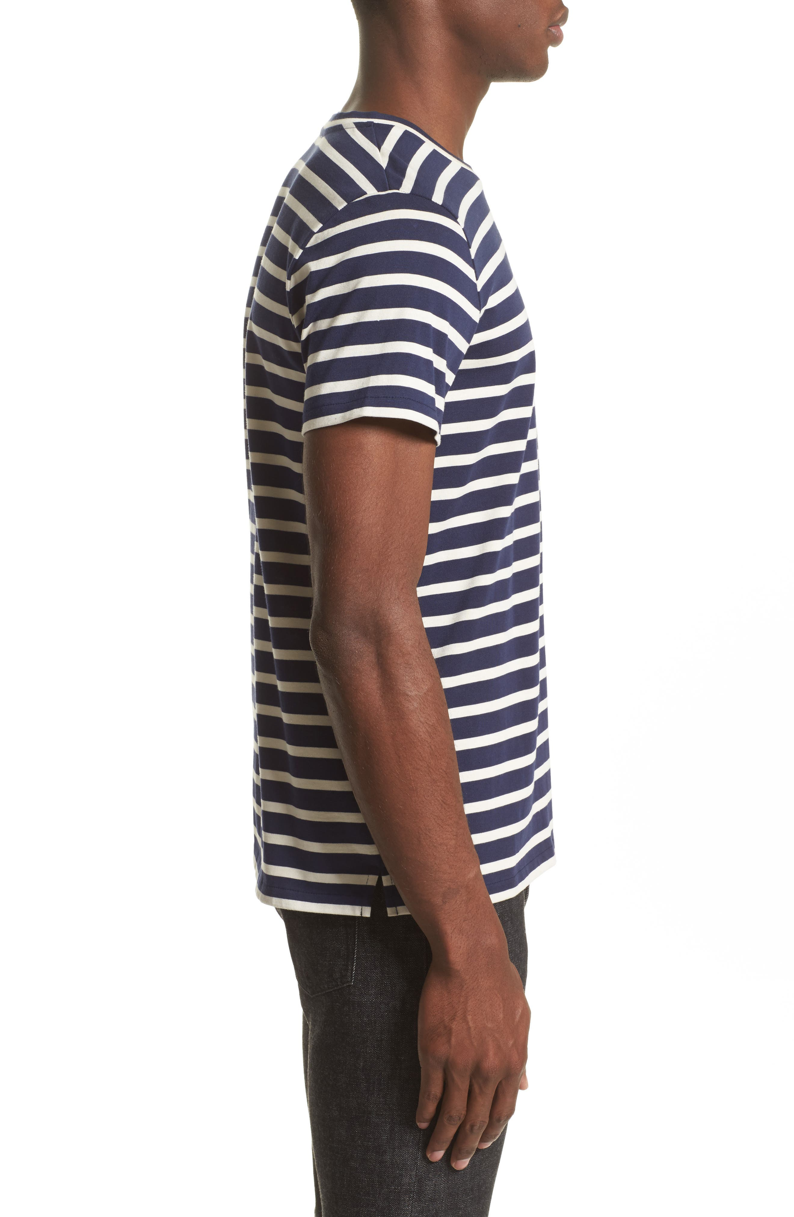 Alternate Image 3  - A.P.C. Stripe Pocket T-Shirt