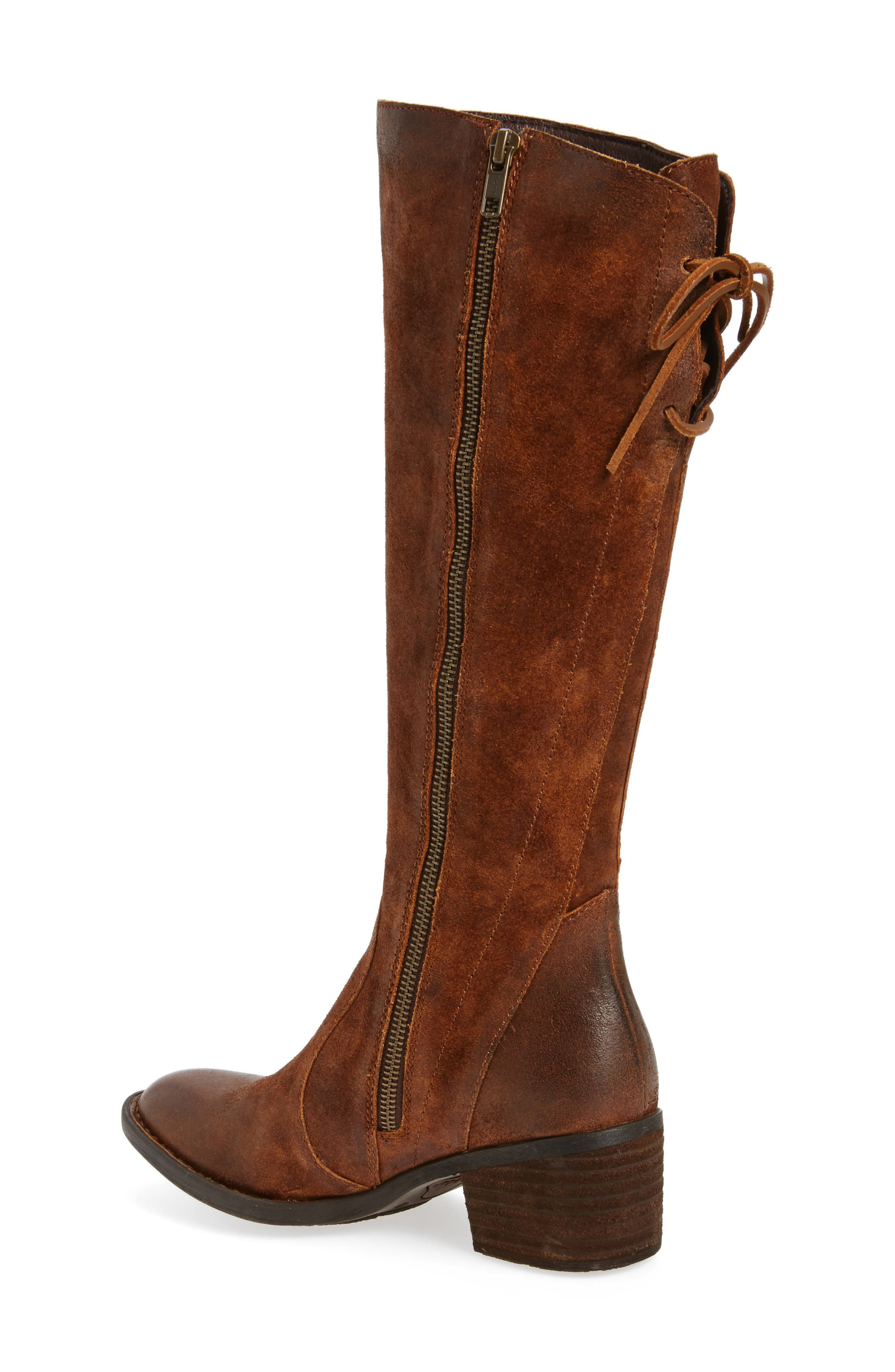 Felicia Knee High Boot,                             Alternate thumbnail 2, color,                             Rust Distressed Leather