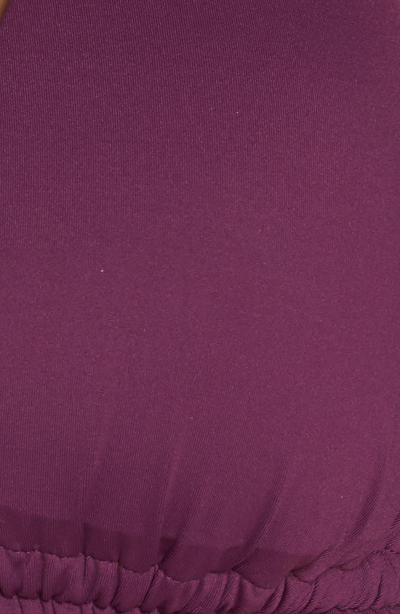 Color Code Halter Bikini Top,                             Alternate thumbnail 5, color,                             Raisin
