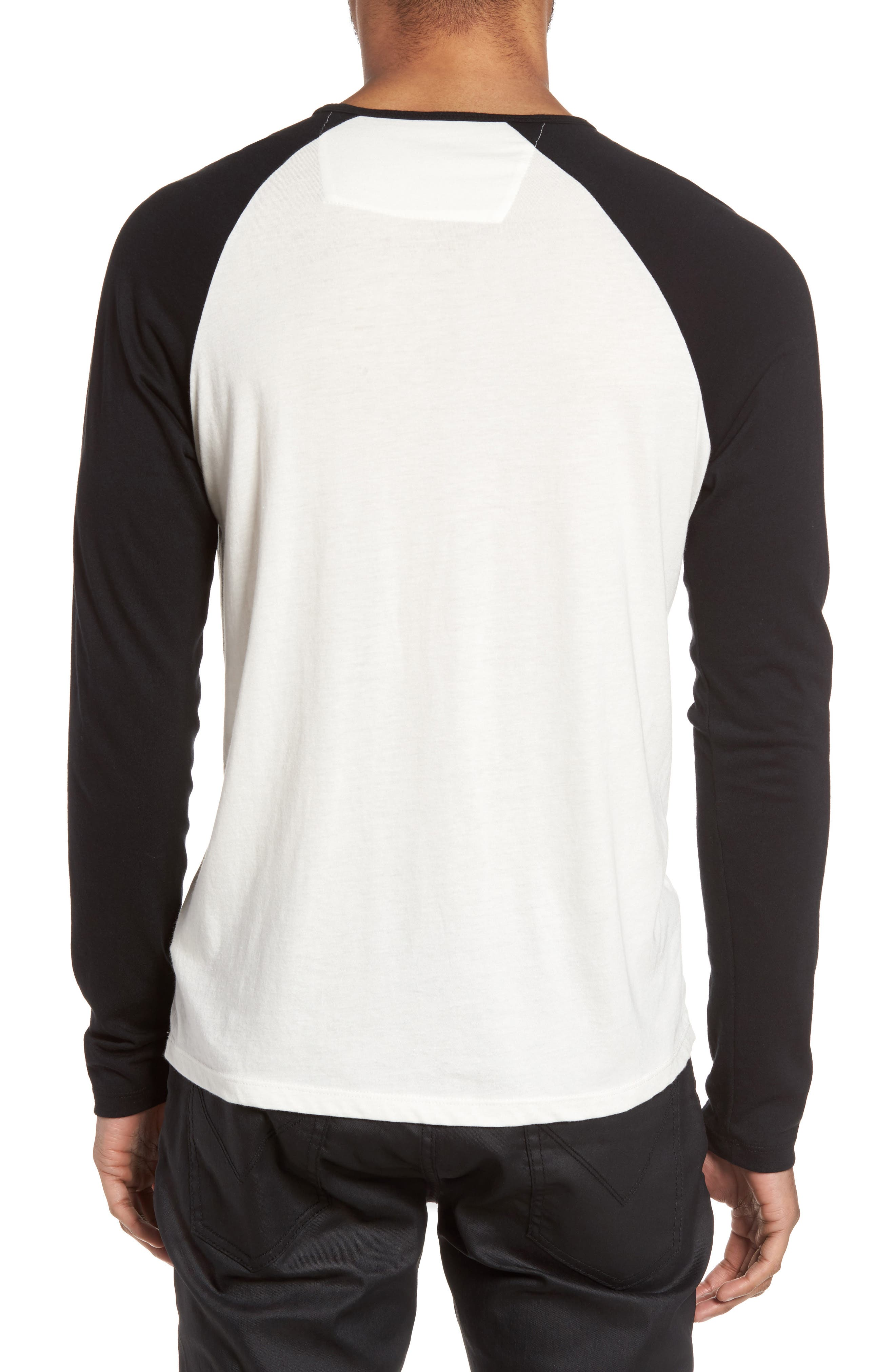 Alternate Image 2  - John Varvatos Star USA NYC Graphic Raglan Sleeve T-Shirt