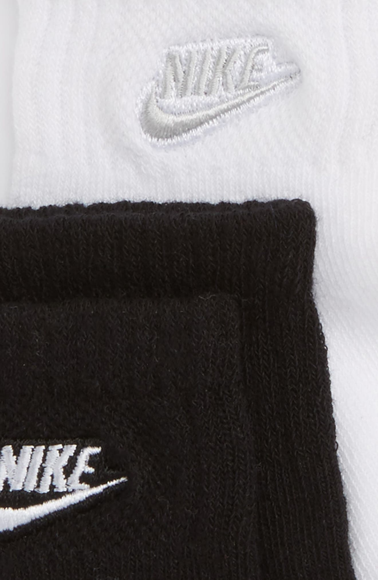 Futura 3-Pack Gripper Socks,                             Alternate thumbnail 2, color,                             Black