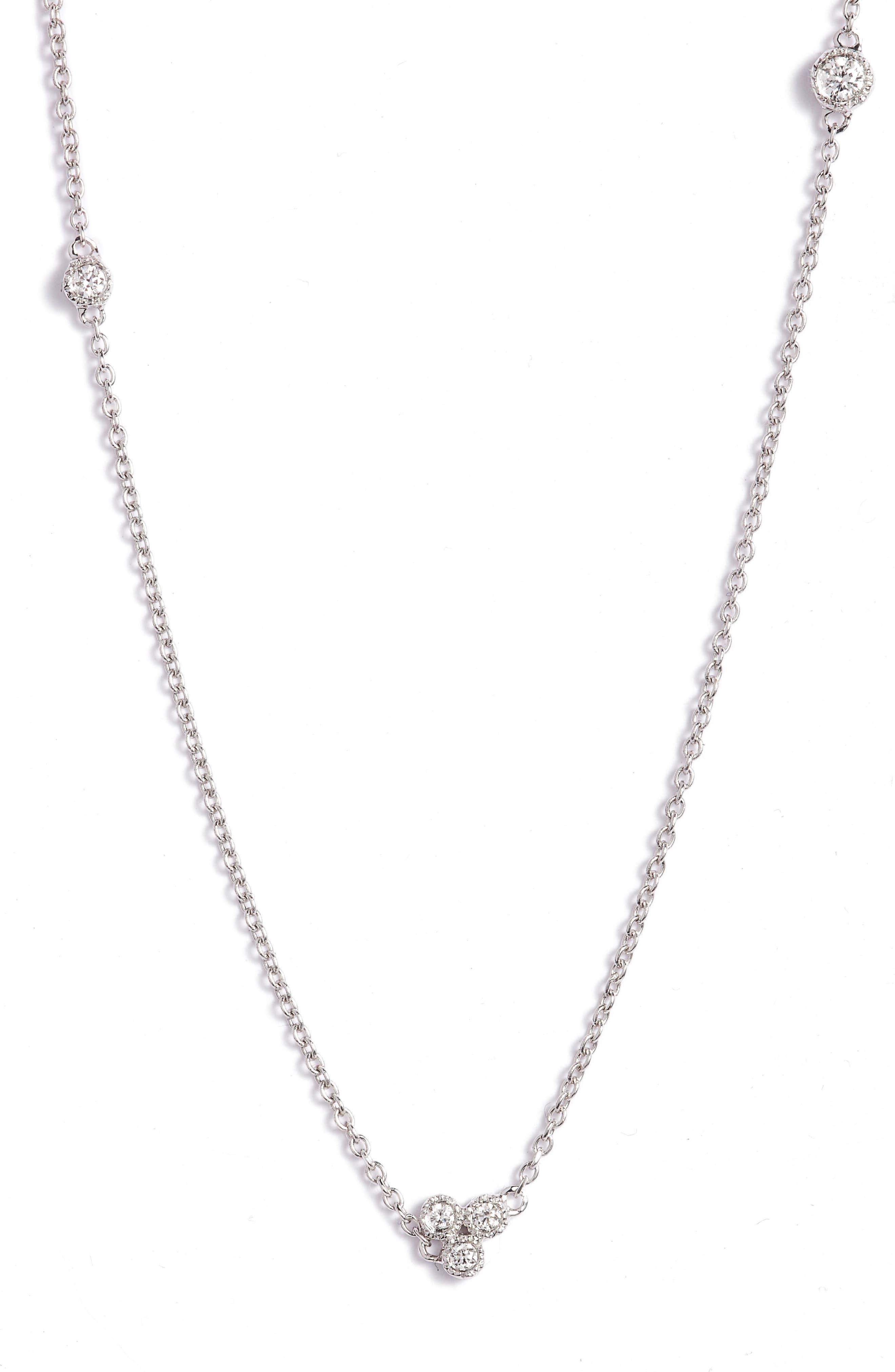 Alternate Image 2  - Bony Levy Harlowe Short Diamond Station Necklace (Nordstrom Exclusive)