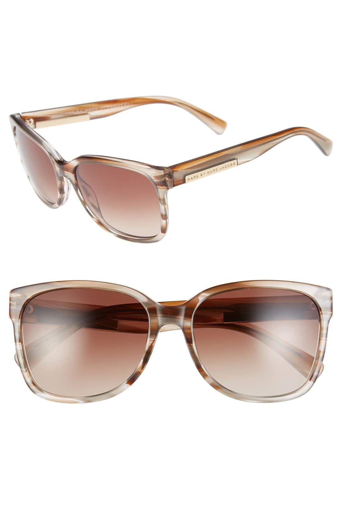 Main Image - MARC BY MARC JACOBS 57mm Retro Sunglasses