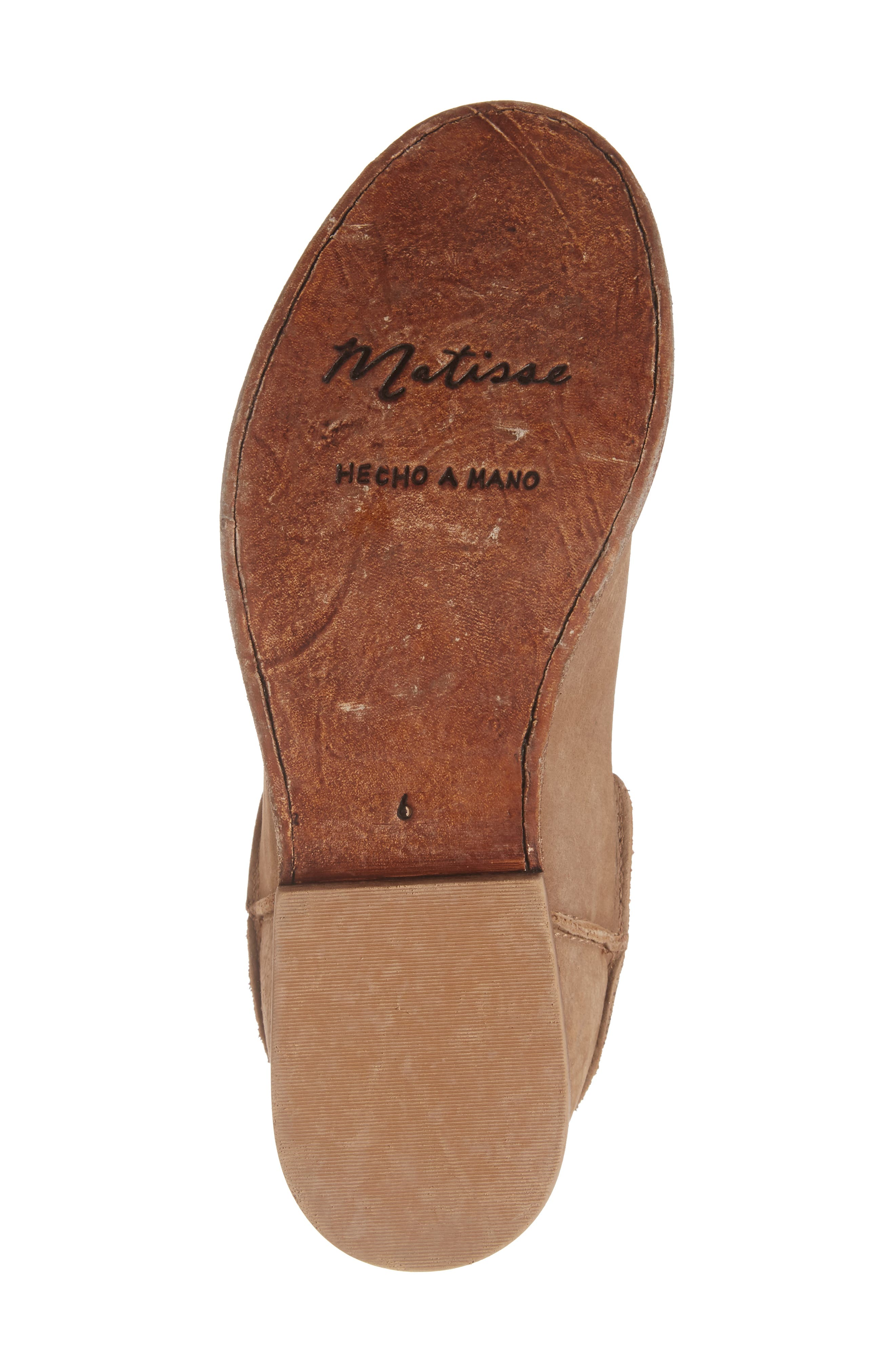 'Gerald' Distressed Bootie,                             Alternate thumbnail 6, color,                             Natural Leather