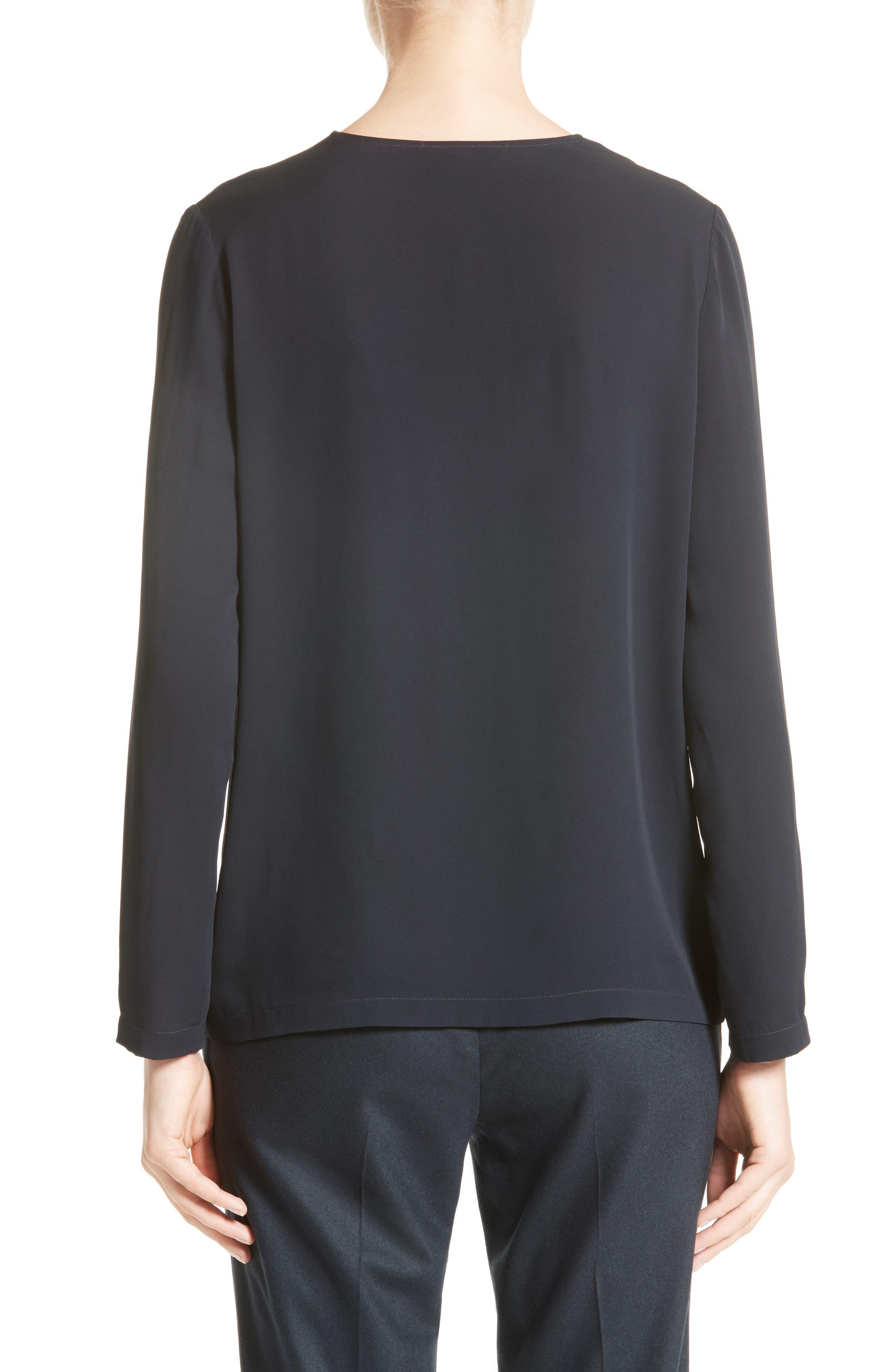 Alternate Image 2  - Fabiana Filippi Embellished Stretch Silk Blouse