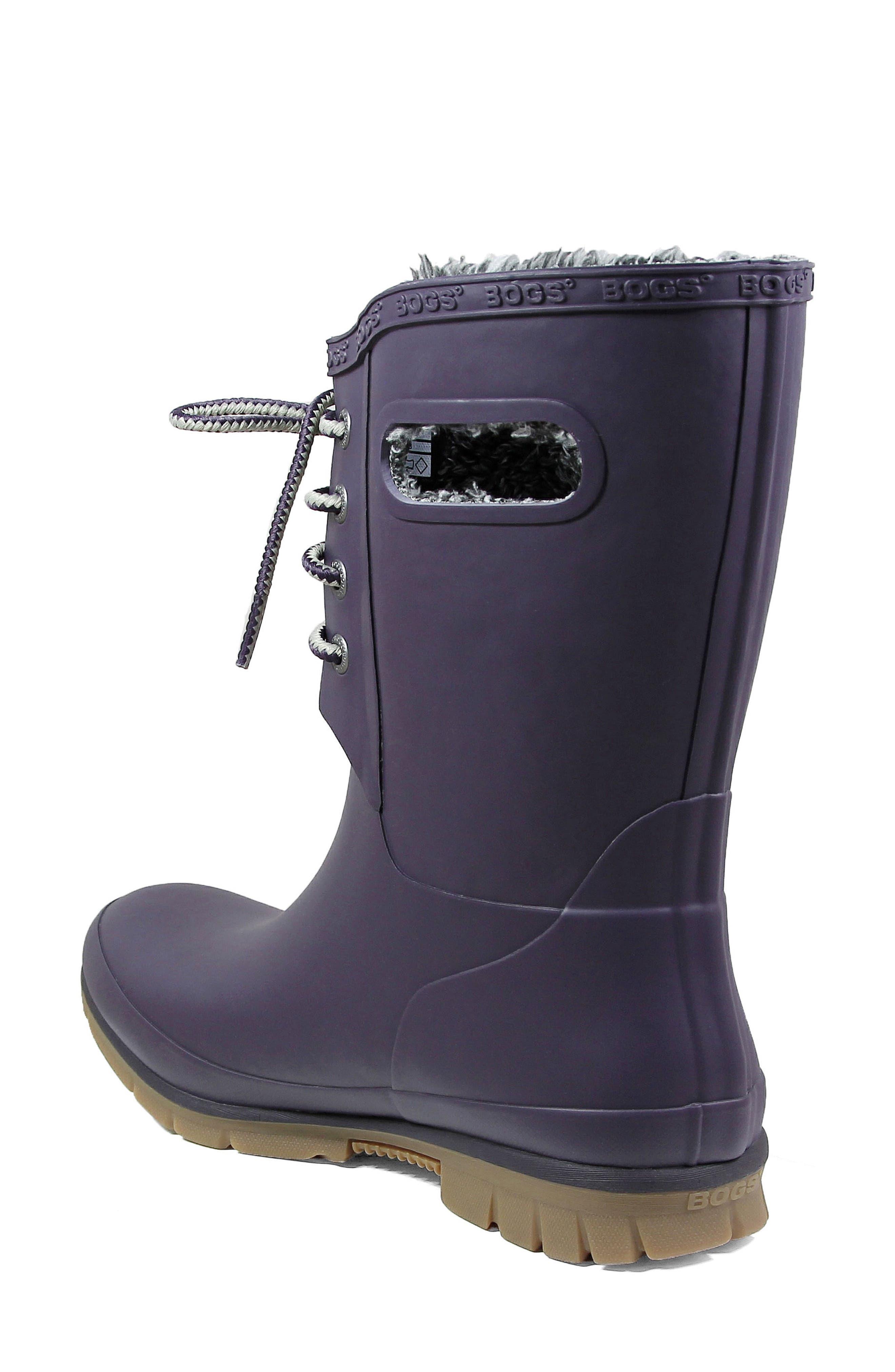 Alternate Image 2  - Bogs Amanda Plush Waterproof Rain Boot (Women)