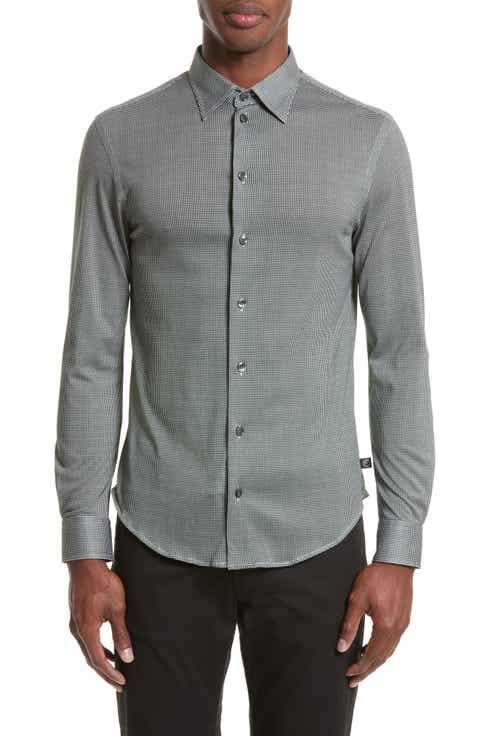 Casual Button-Down Shirts Armani Collezioni for Men | Nordstrom