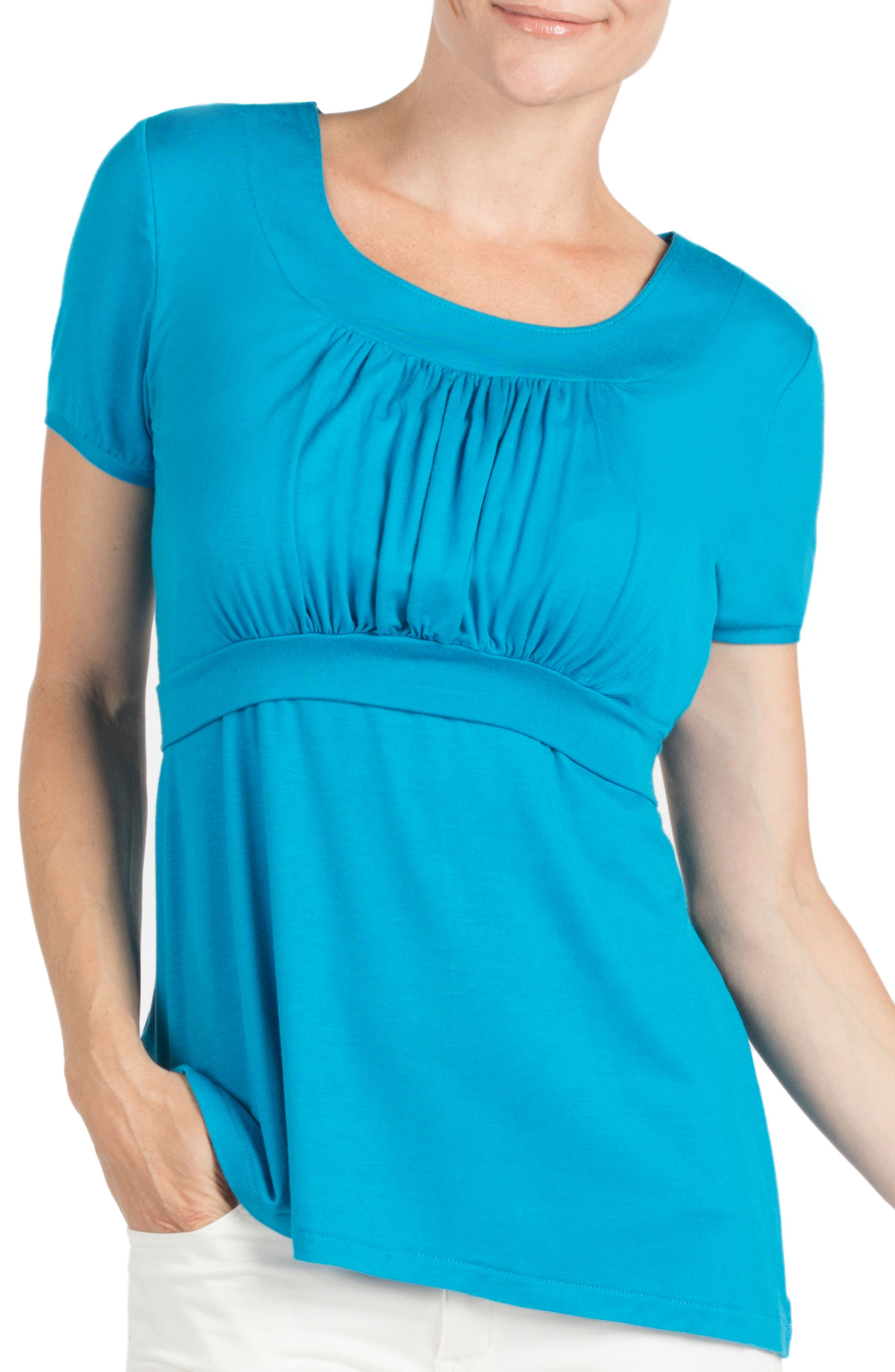 Westin Maternity/Nursing Top,                         Main,                         color, Turquoise
