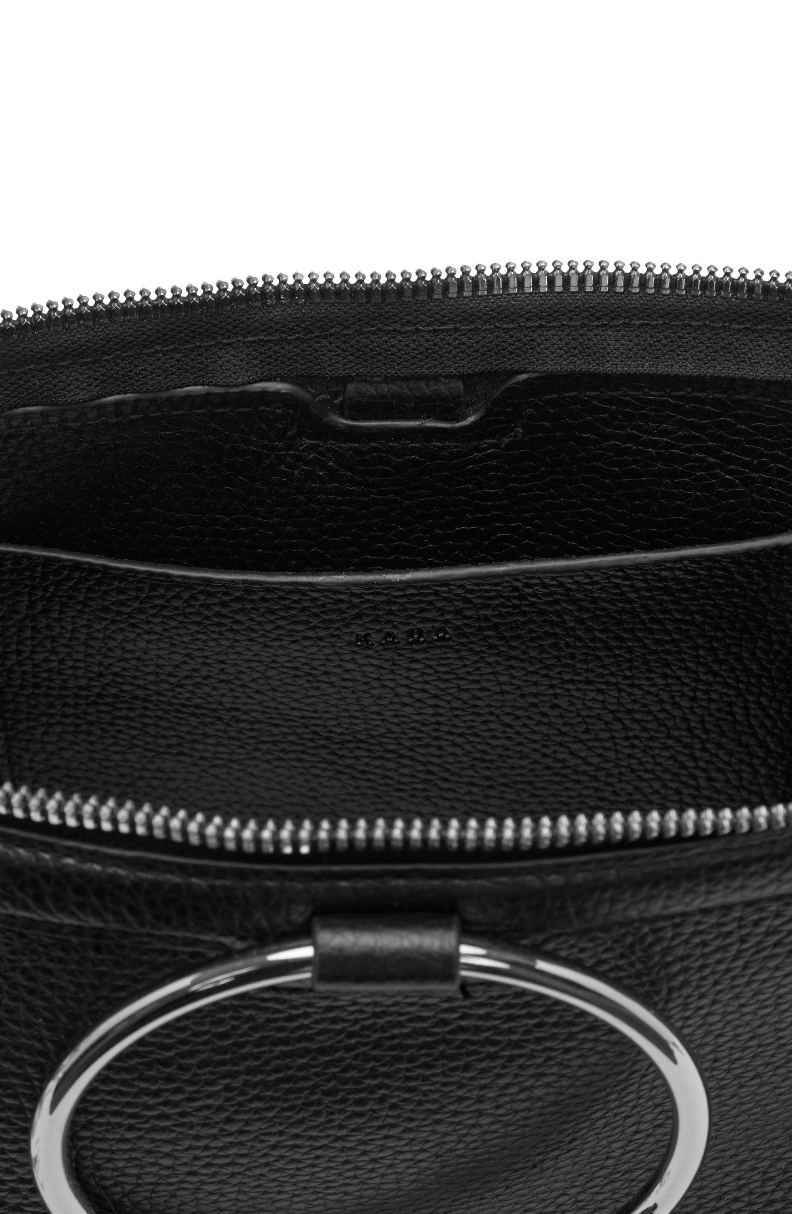Alternate Image 4  - KARA Large Pebbled Leather Ring Clutch