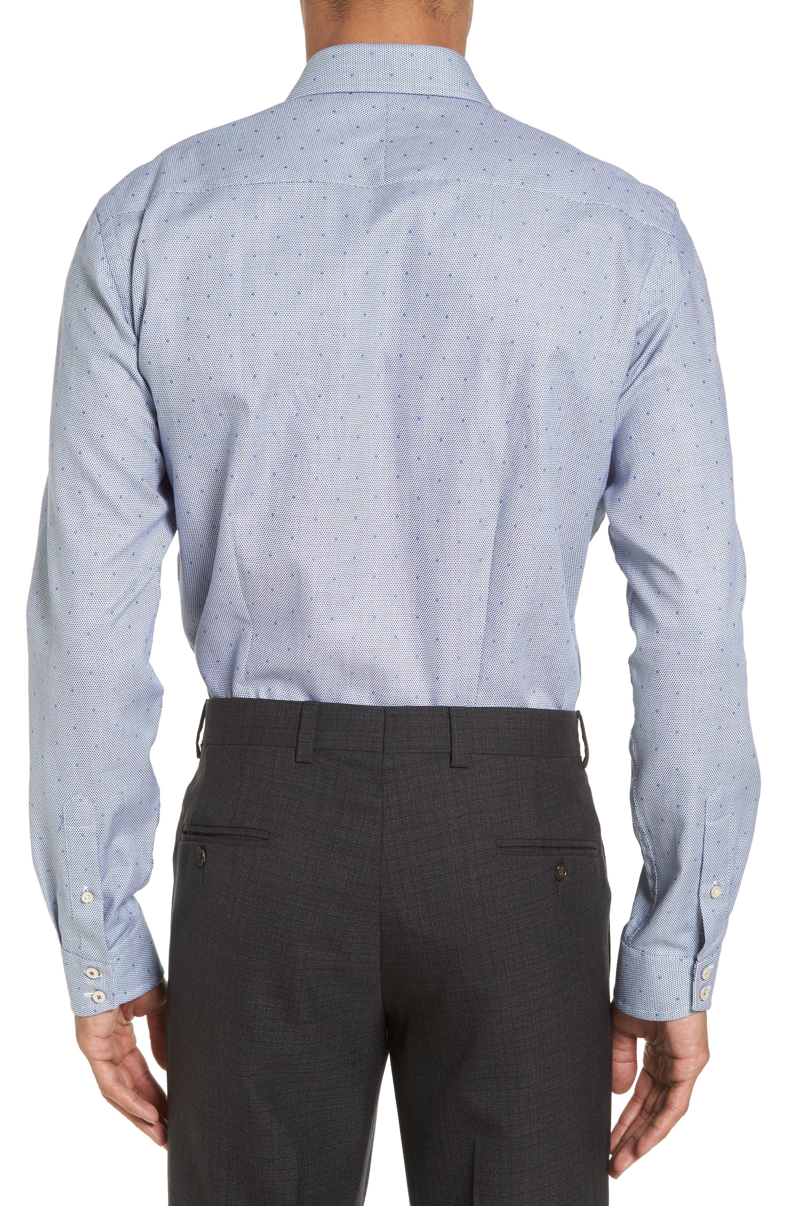 Alternate Image 3  - Ted Baker London Trim Fit Dot Dress Shirt