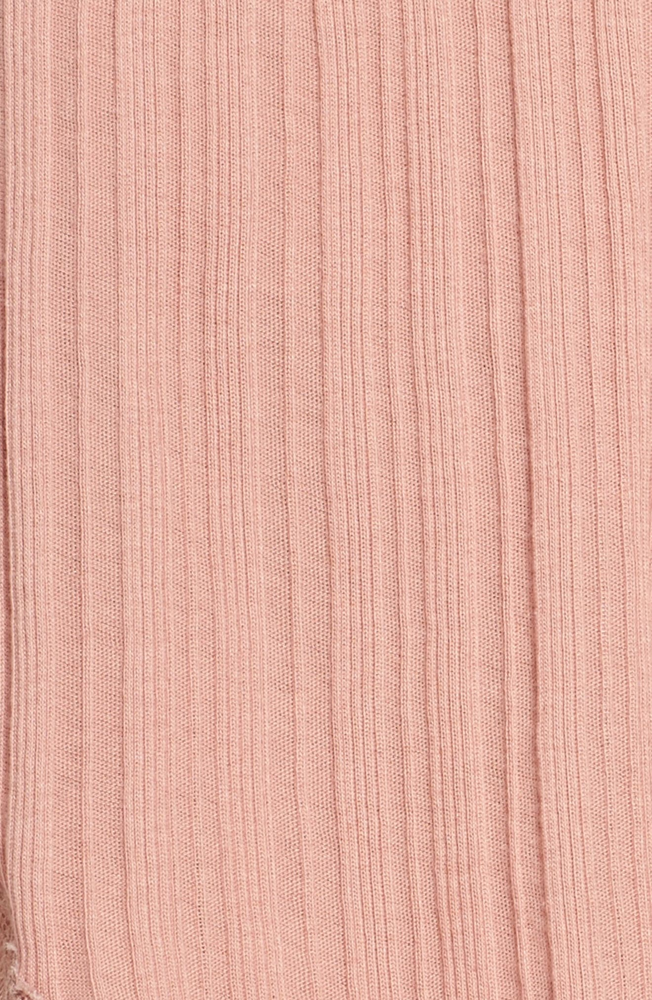 Ribbed Shorts,                             Alternate thumbnail 6, color,                             Vintage Pink