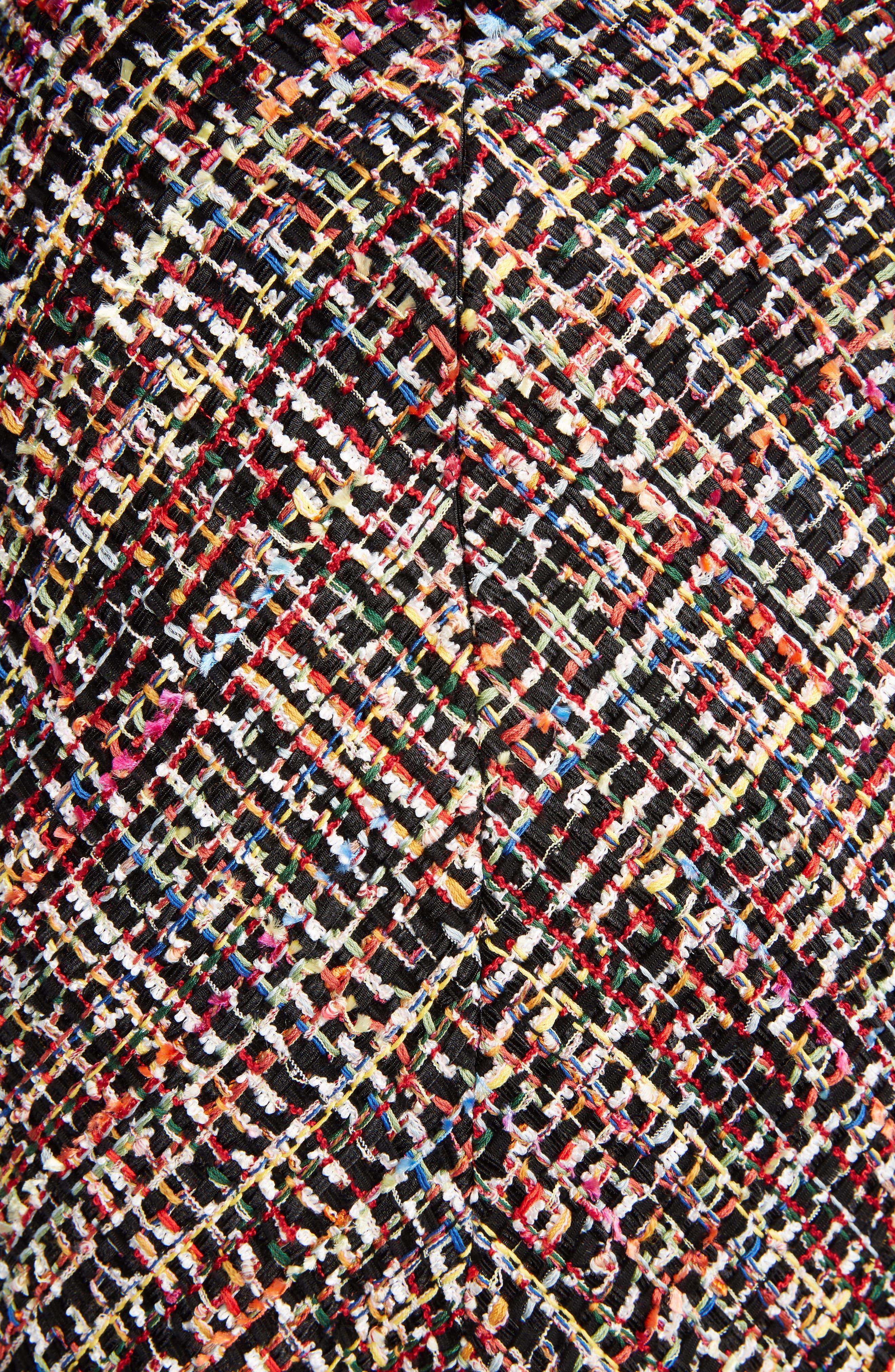 Wishing Tree Tweed Skirt,                             Alternate thumbnail 5, color,                             Black Mix