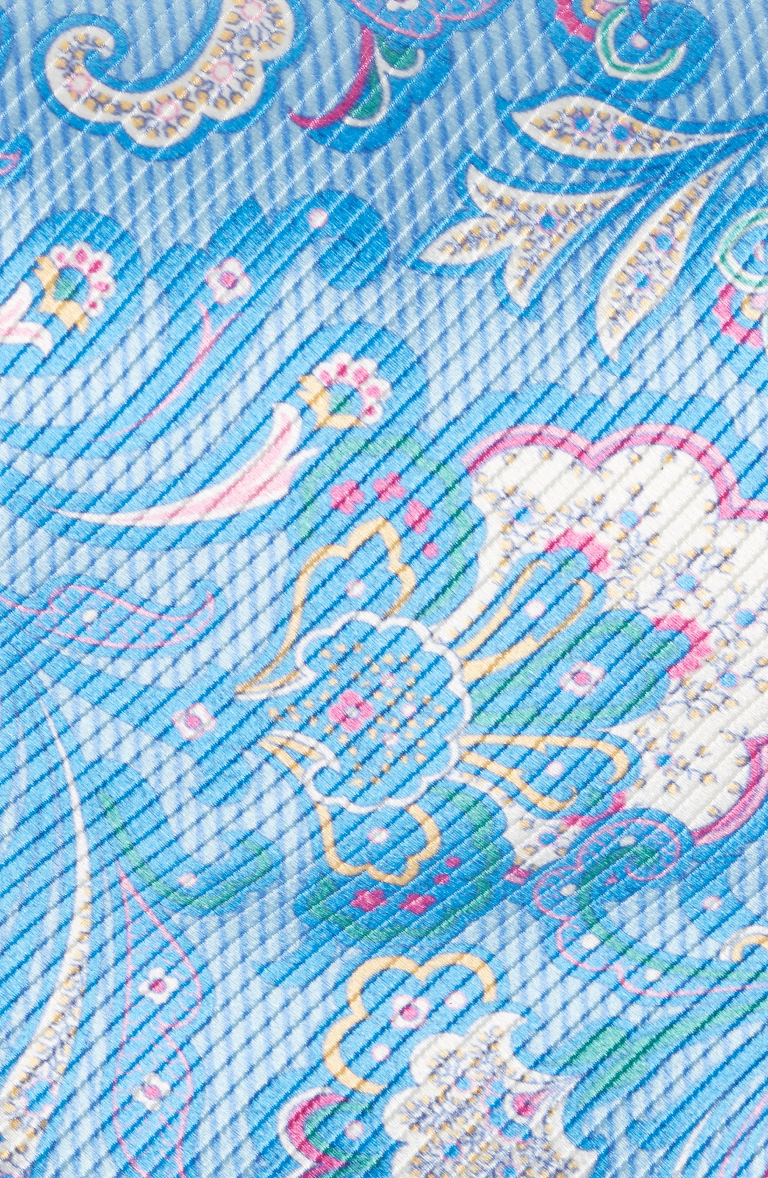 Paisley Silk Tie,                             Alternate thumbnail 2, color,                             Sky