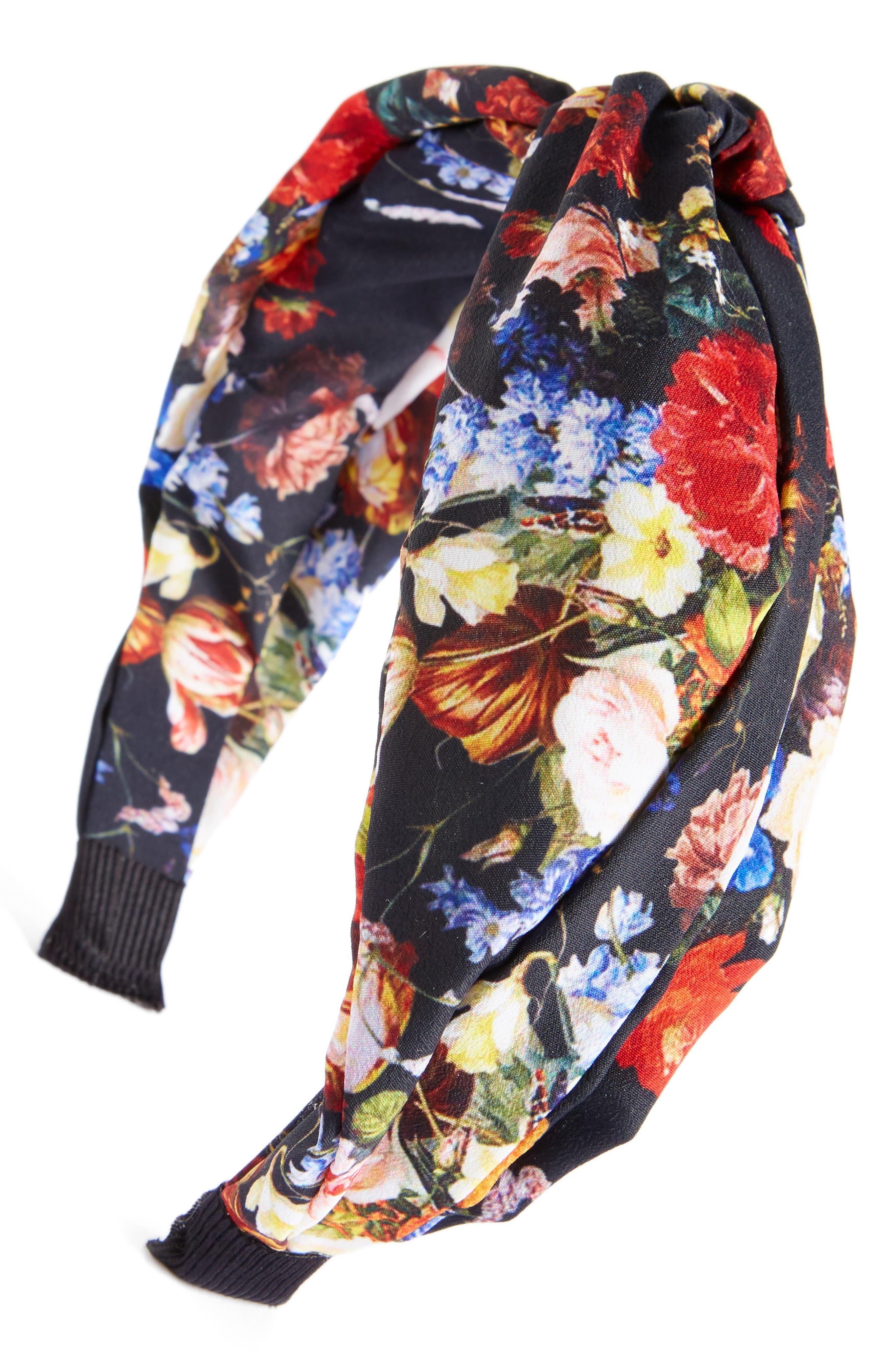 Main Image - Cara Floral Knot Head Wrap