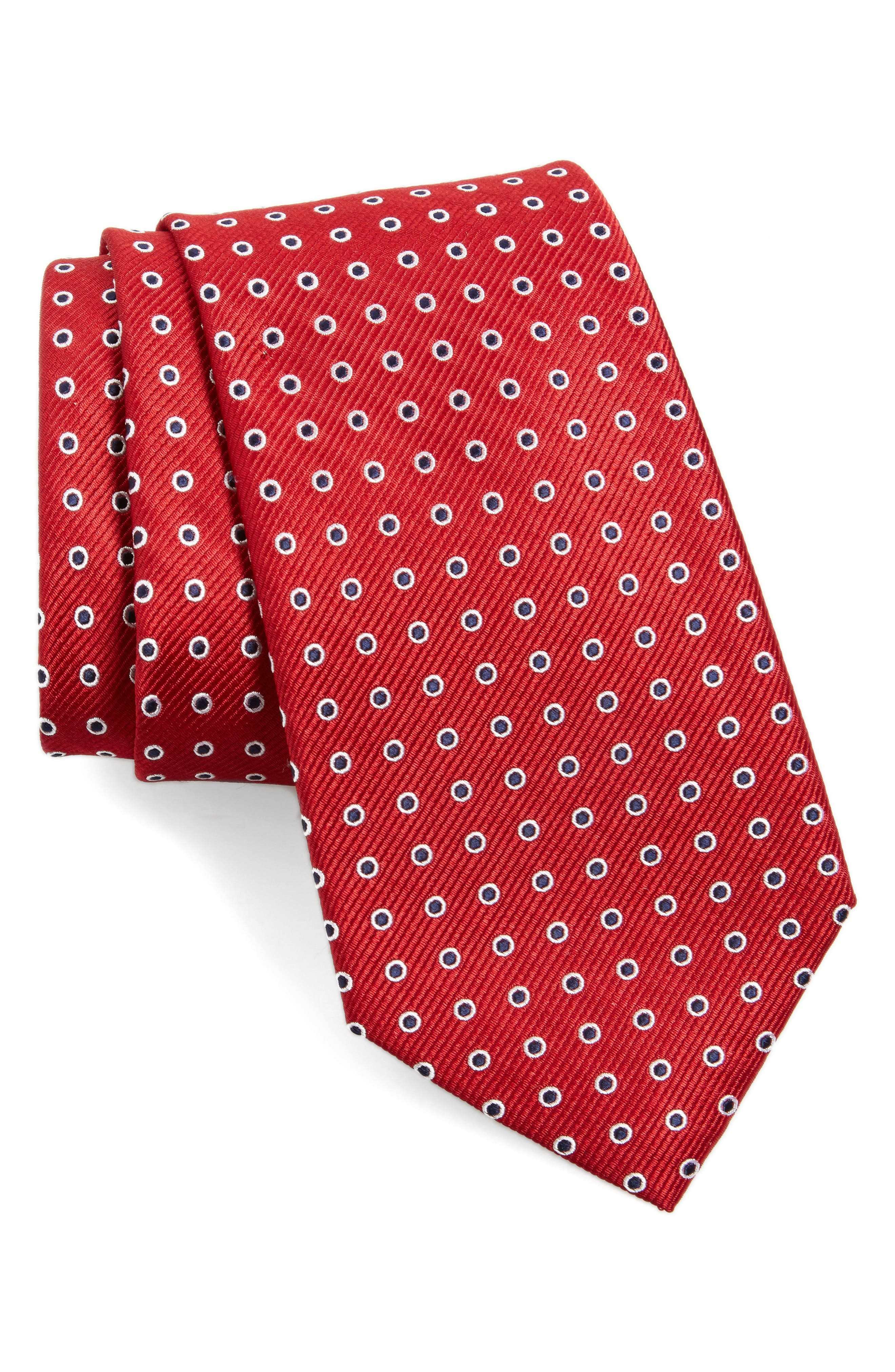 NORDSTROM MENS SHOP Halo Dot Silk Tie