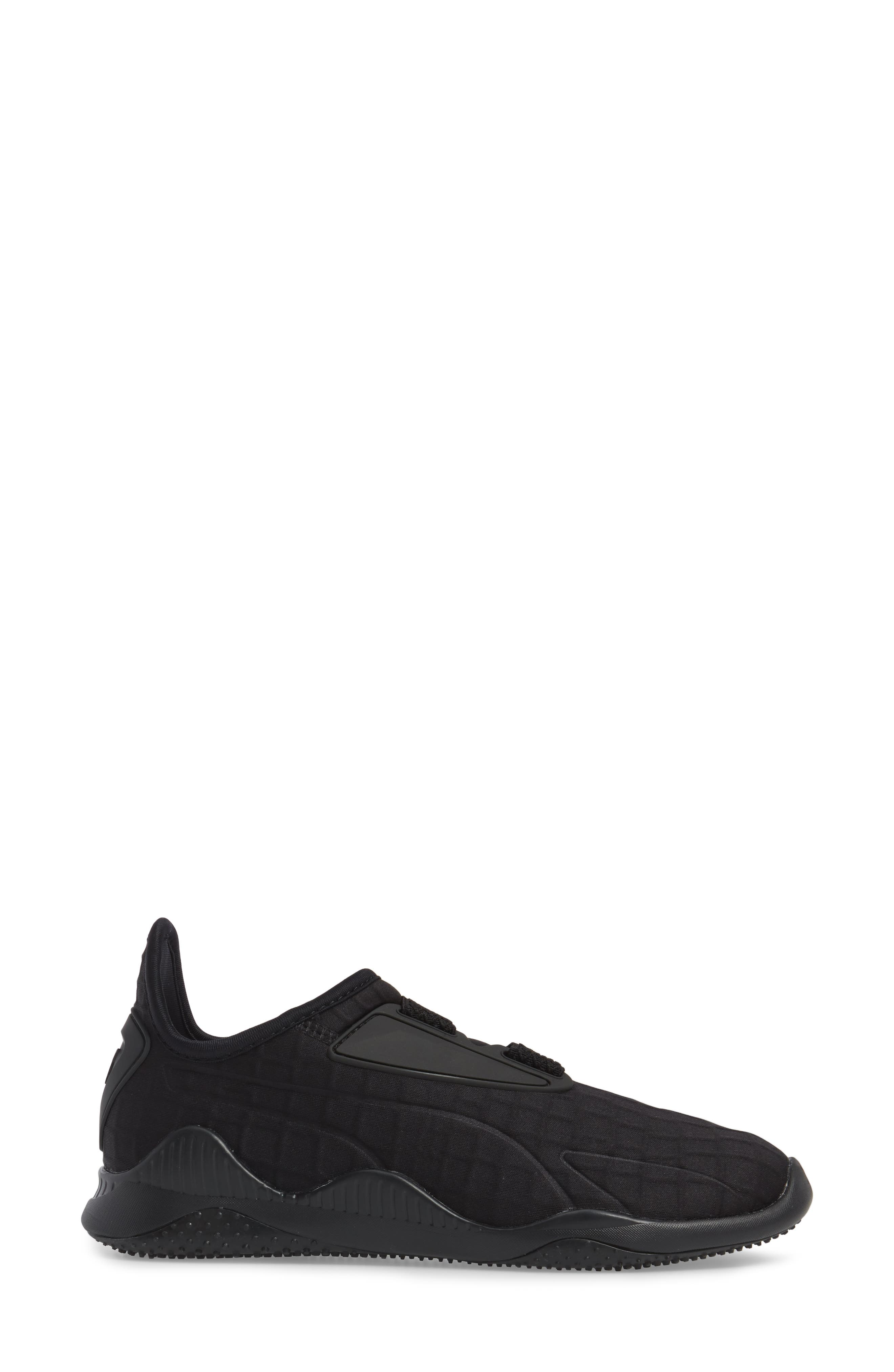 Mostro Fashion Sneaker,                             Alternate thumbnail 3, color,                             Puma Black/ Puma Black