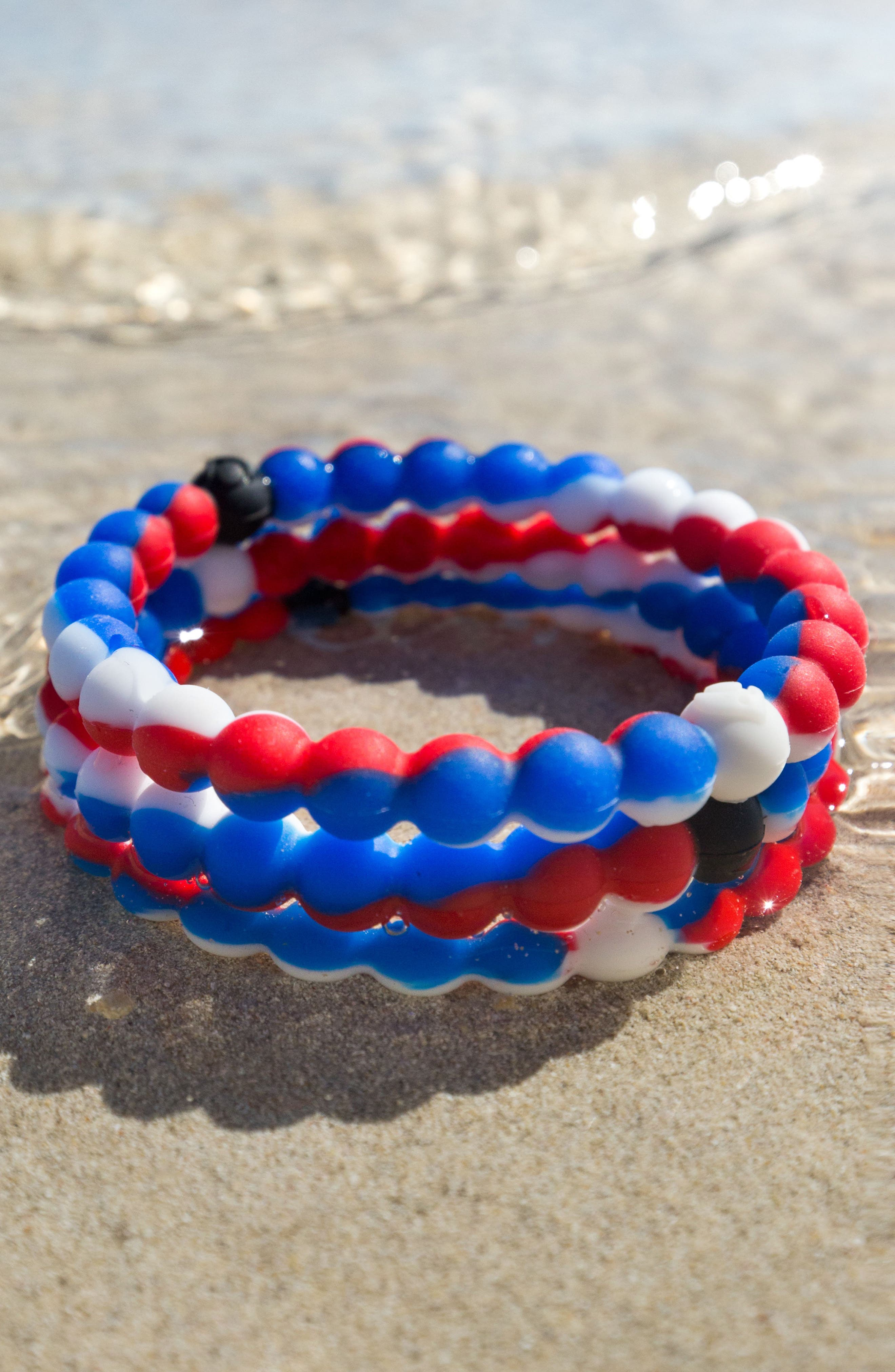 Wear Your World Bracelet,                             Alternate thumbnail 4, color,                             Red White And Blue