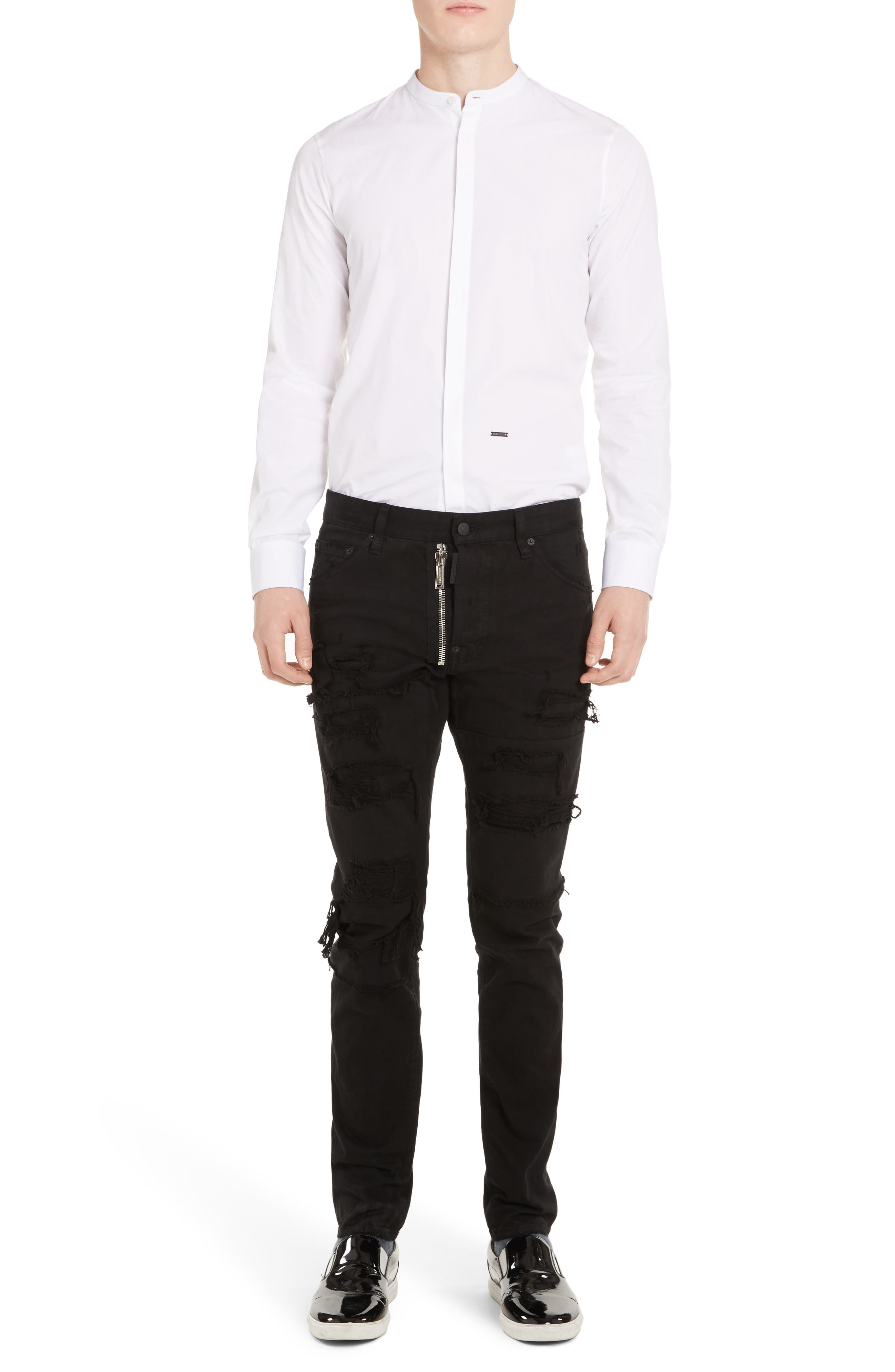 Alternate Image 6  - Dsquared2 Band Collar Poplin Shirt