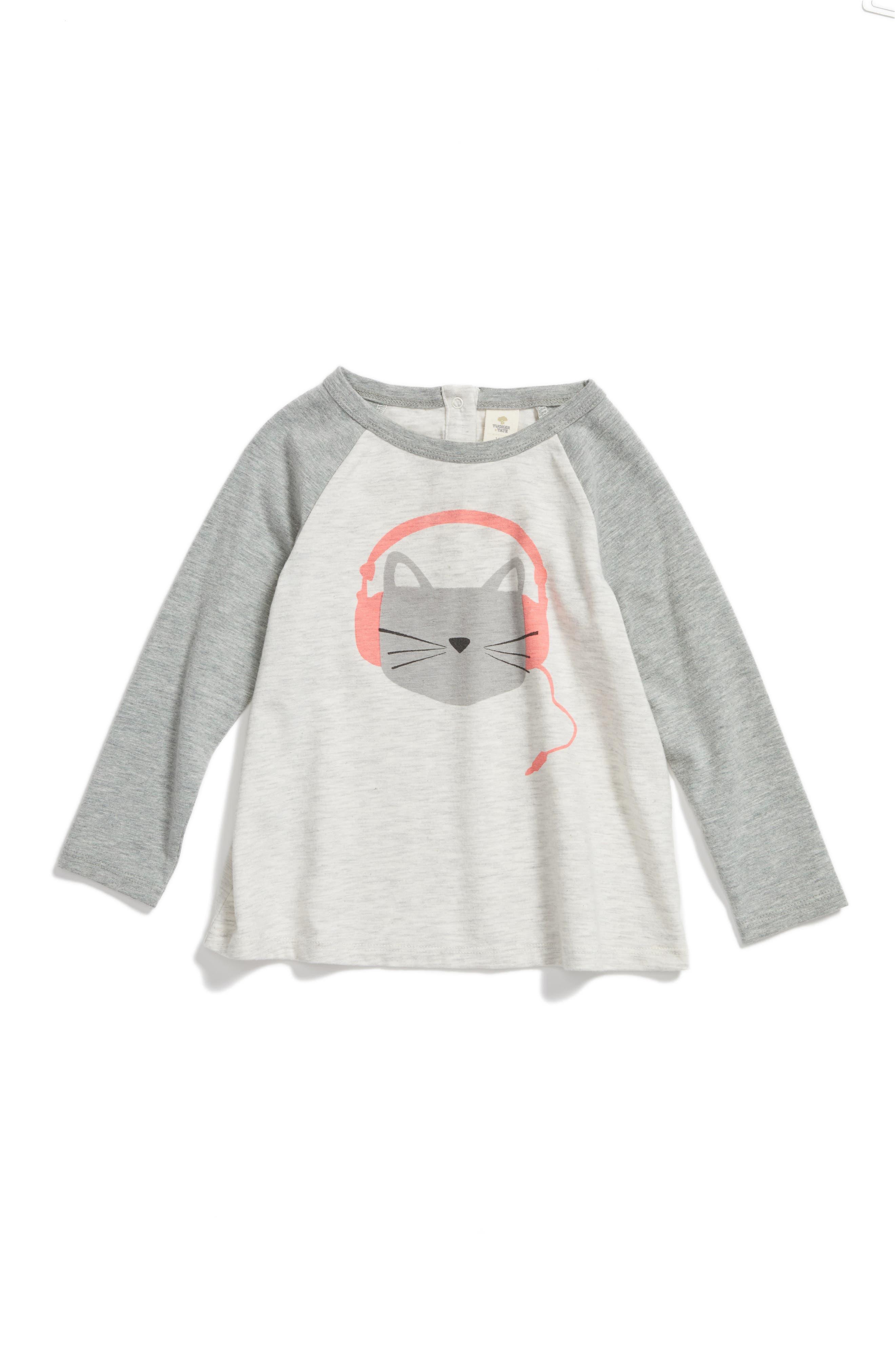 Tucker + Tate Cat Graphic Tee (Baby Girls)