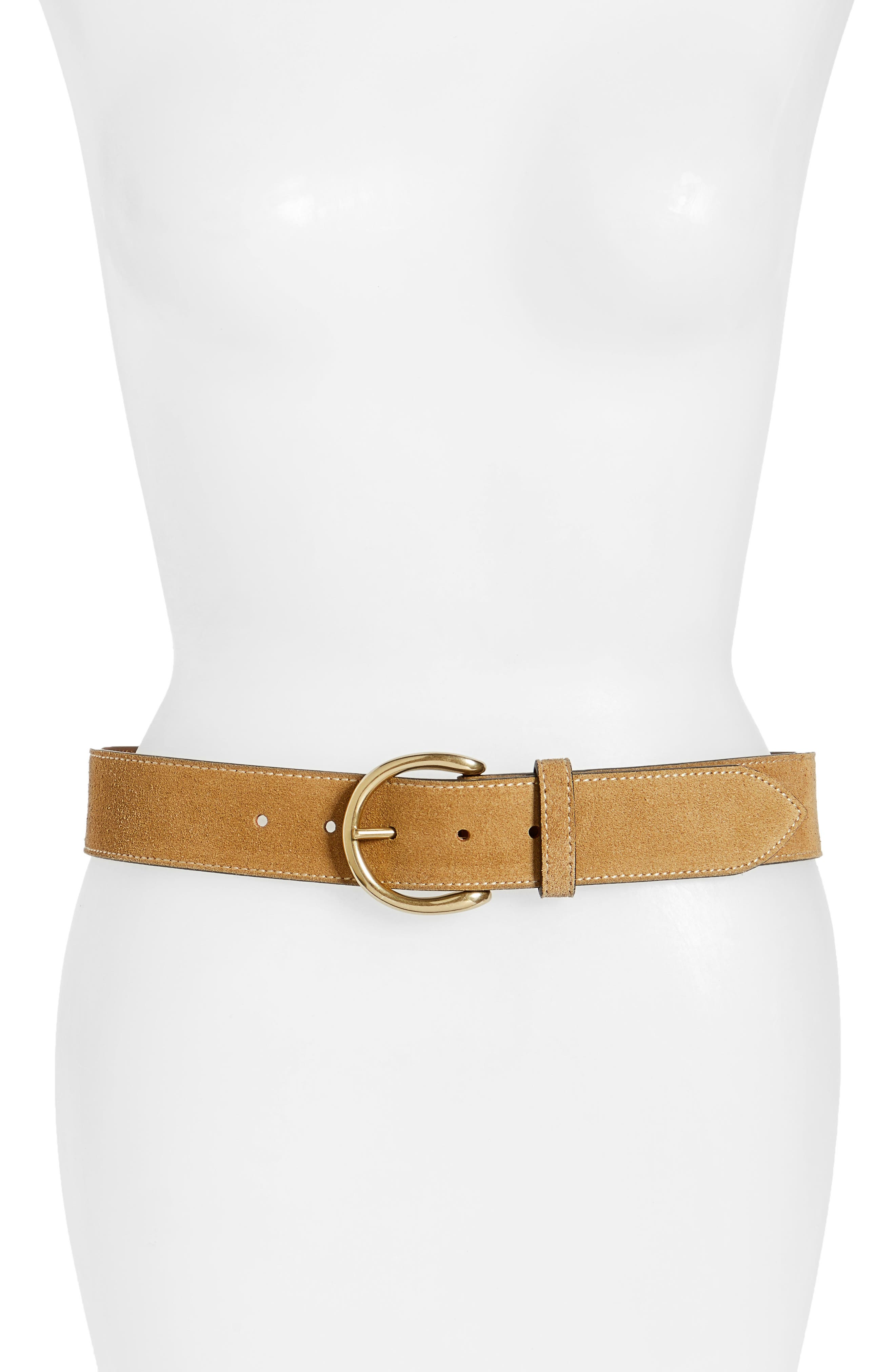 Campus Leather Belt,                             Main thumbnail 1, color,                             Cashew