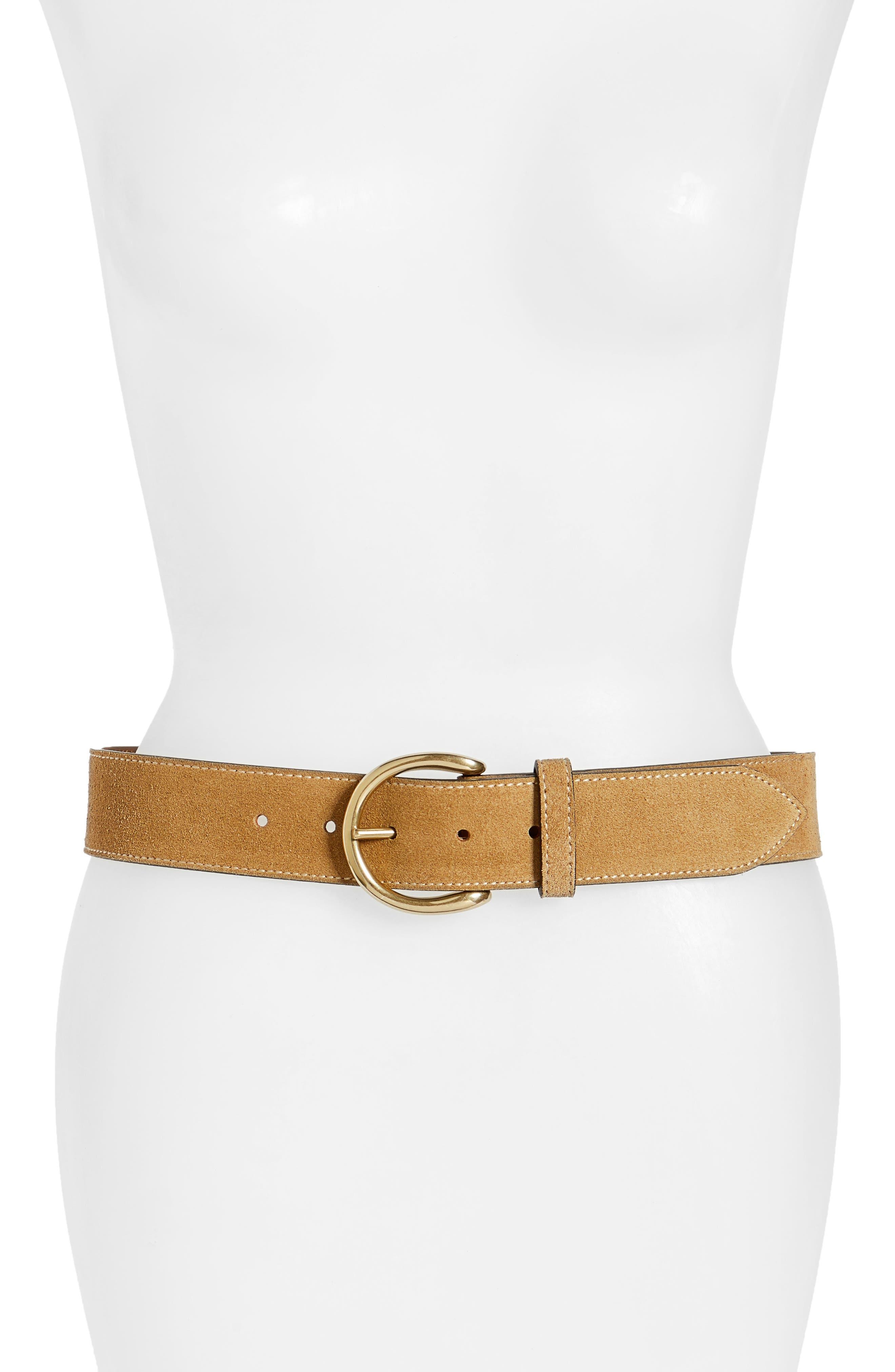 Campus Leather Belt,                         Main,                         color, Cashew