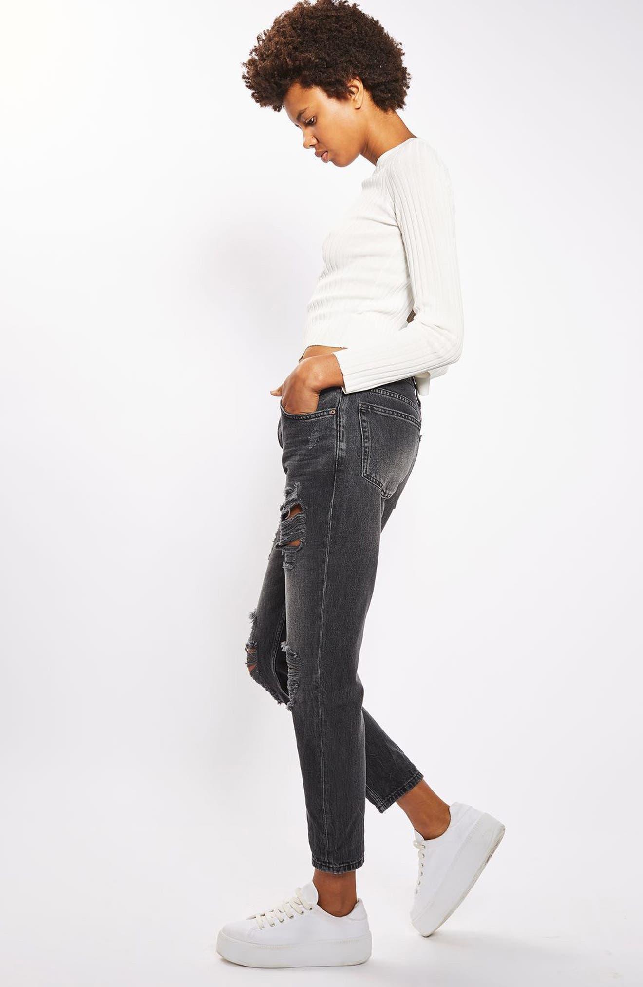 Alternate Image 3  - Topshop Hayden Super Rip Boyfriend Jeans