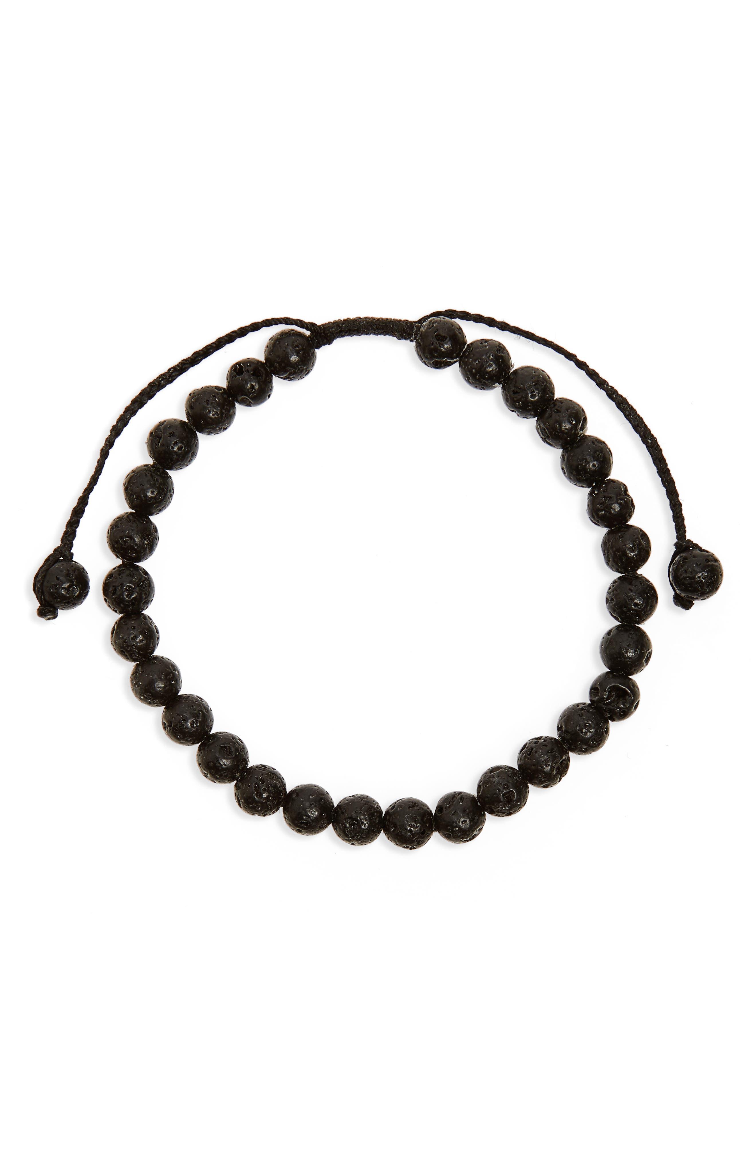 Main Image - Link Up Lava Stone Bead Bracelet