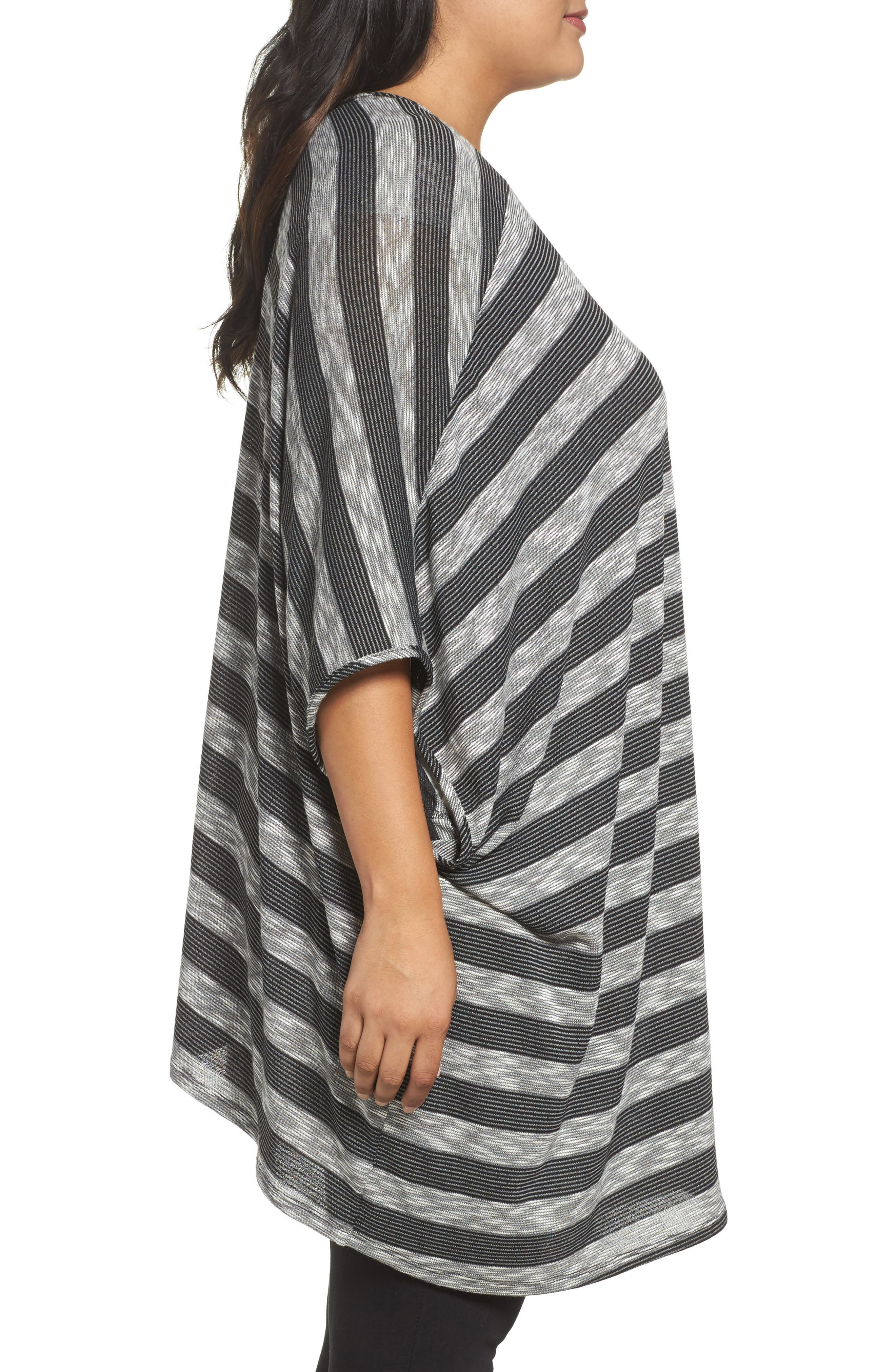 Alternate Image 3  - Tart Alania Stripe Cardigan (Plus Size)