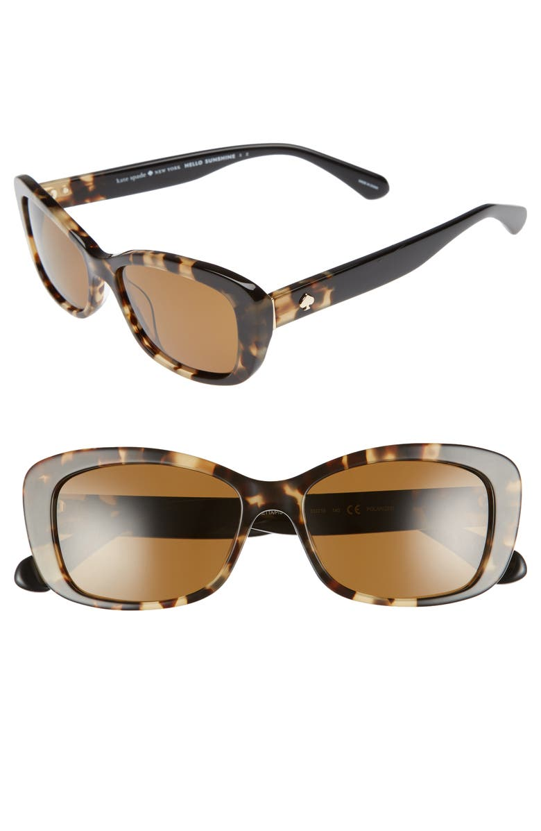 60c82afdec3 Kate Spade Claretta 53Mm Polarized Sunglasses - Havana  Black